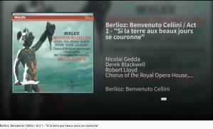 Berlioz Benvenuto Cellini Si la terre aux beaux jours se couronne