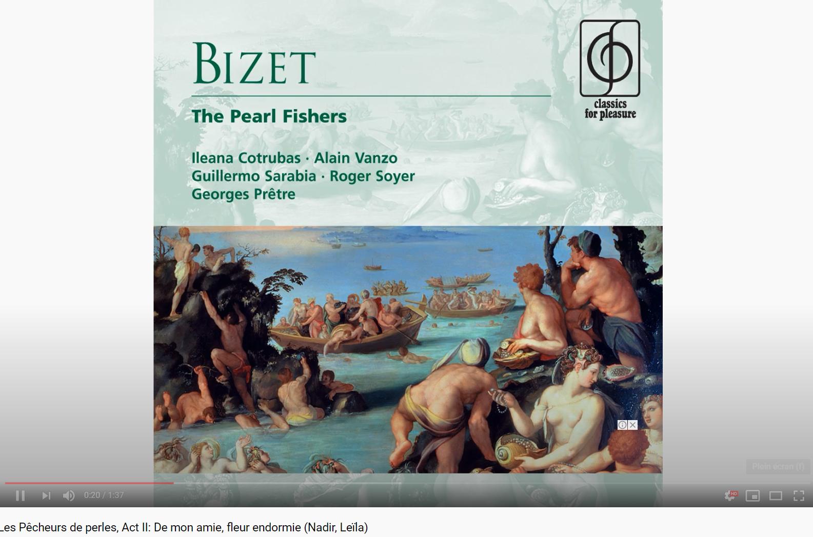 Bizet Les Pêcheurs de perles De mon amie, fleur endormie