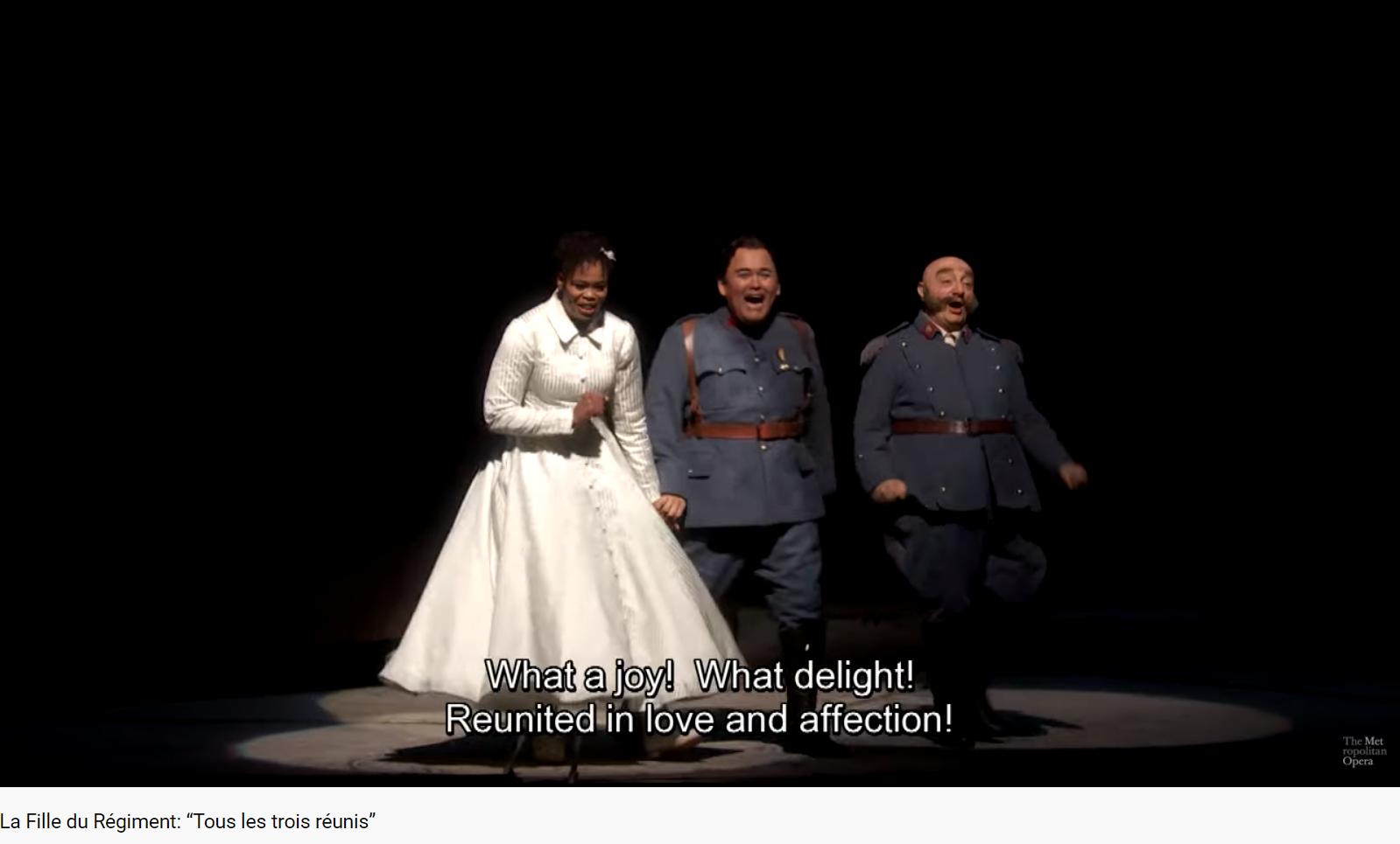 Donizetti La Fille du régiment tous les trois réunis