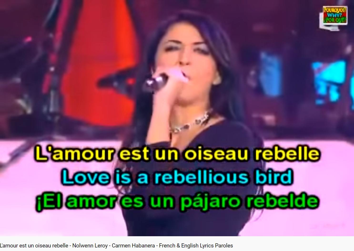Nolwen Bizet Carmen l'amour est un oiseau rebelle