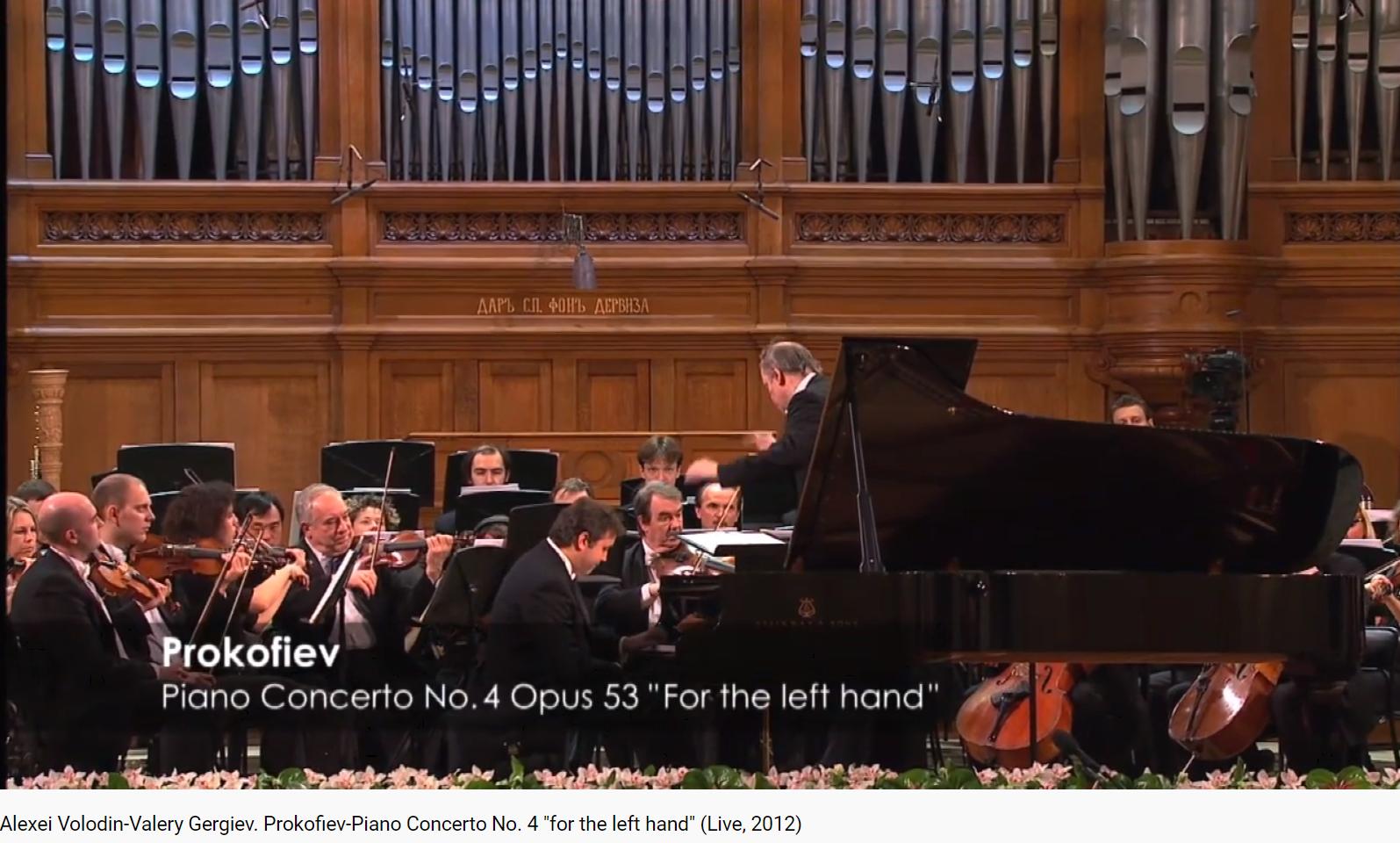 Prokofiev concerto pour la main gauche