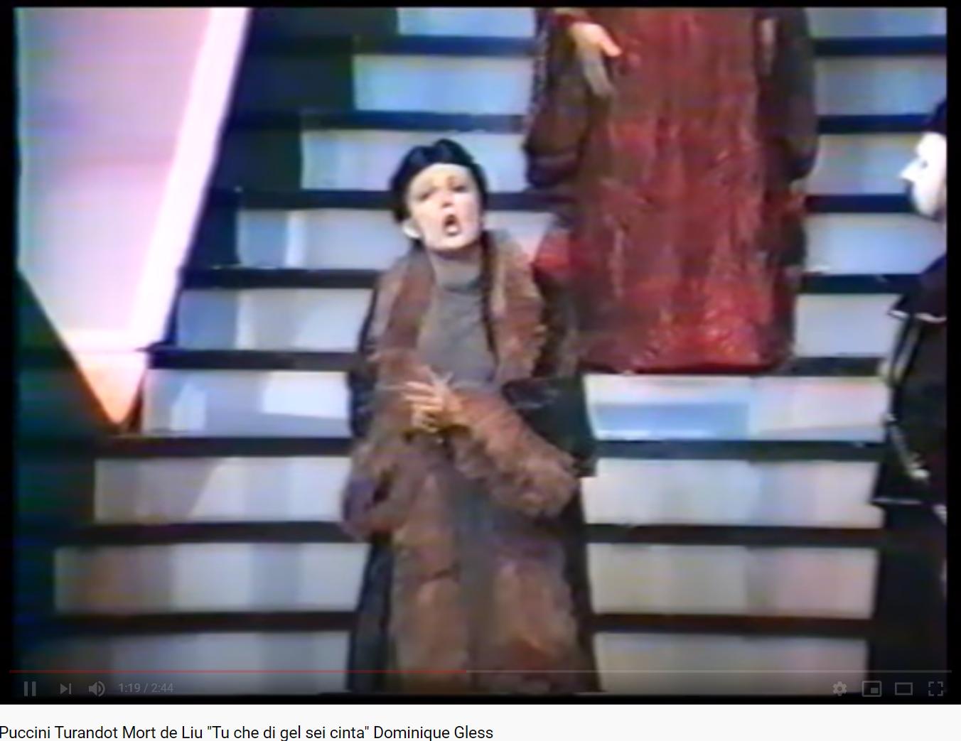 Puccini Turandot Tu che di gel sei cinta (Domnique Gless)