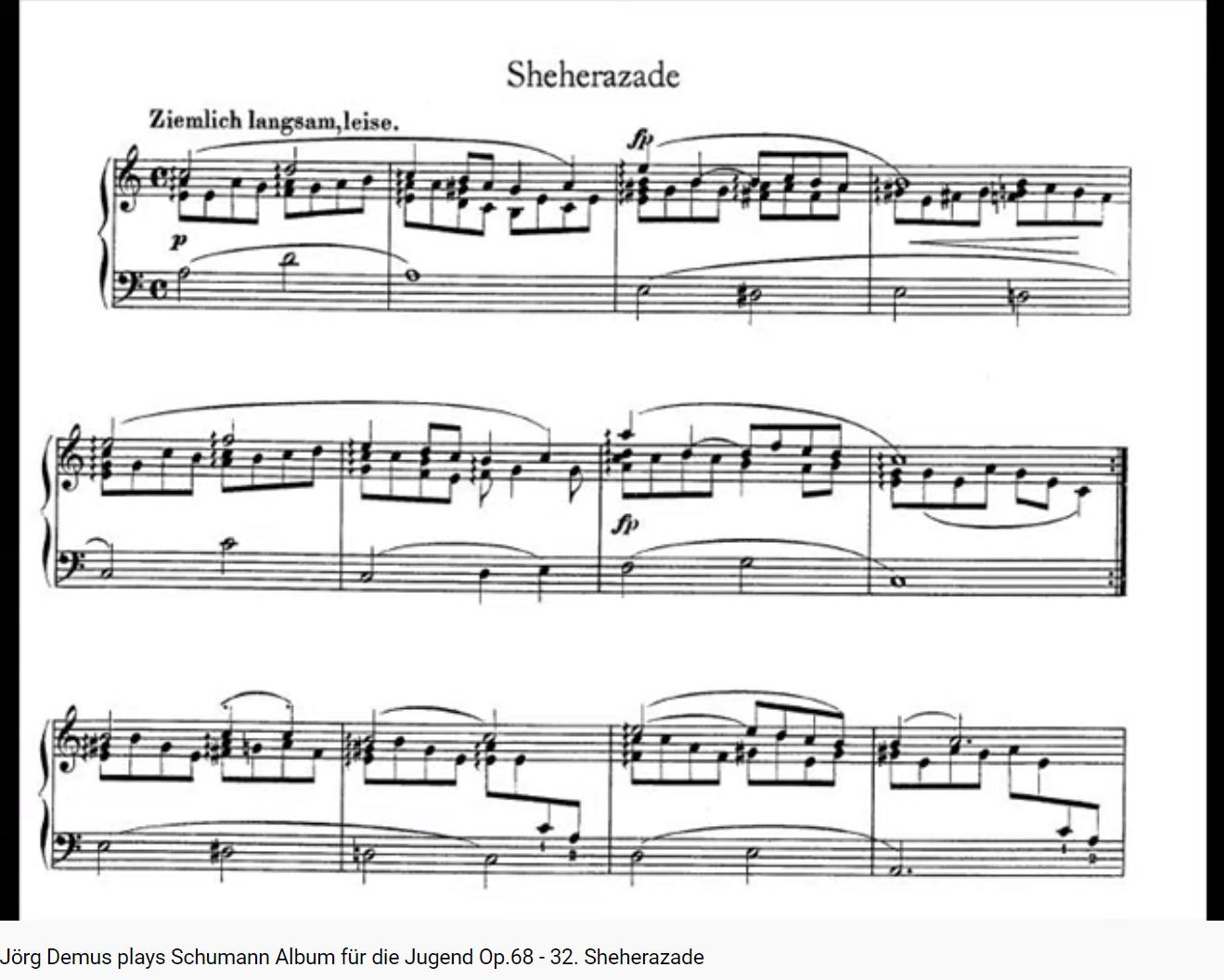 Schumann Sheherazade