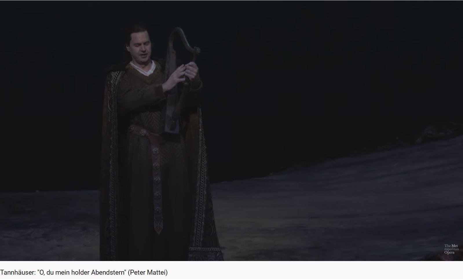 Wagner Tannhauser O, du mein holder Abendstern (MET 2015)