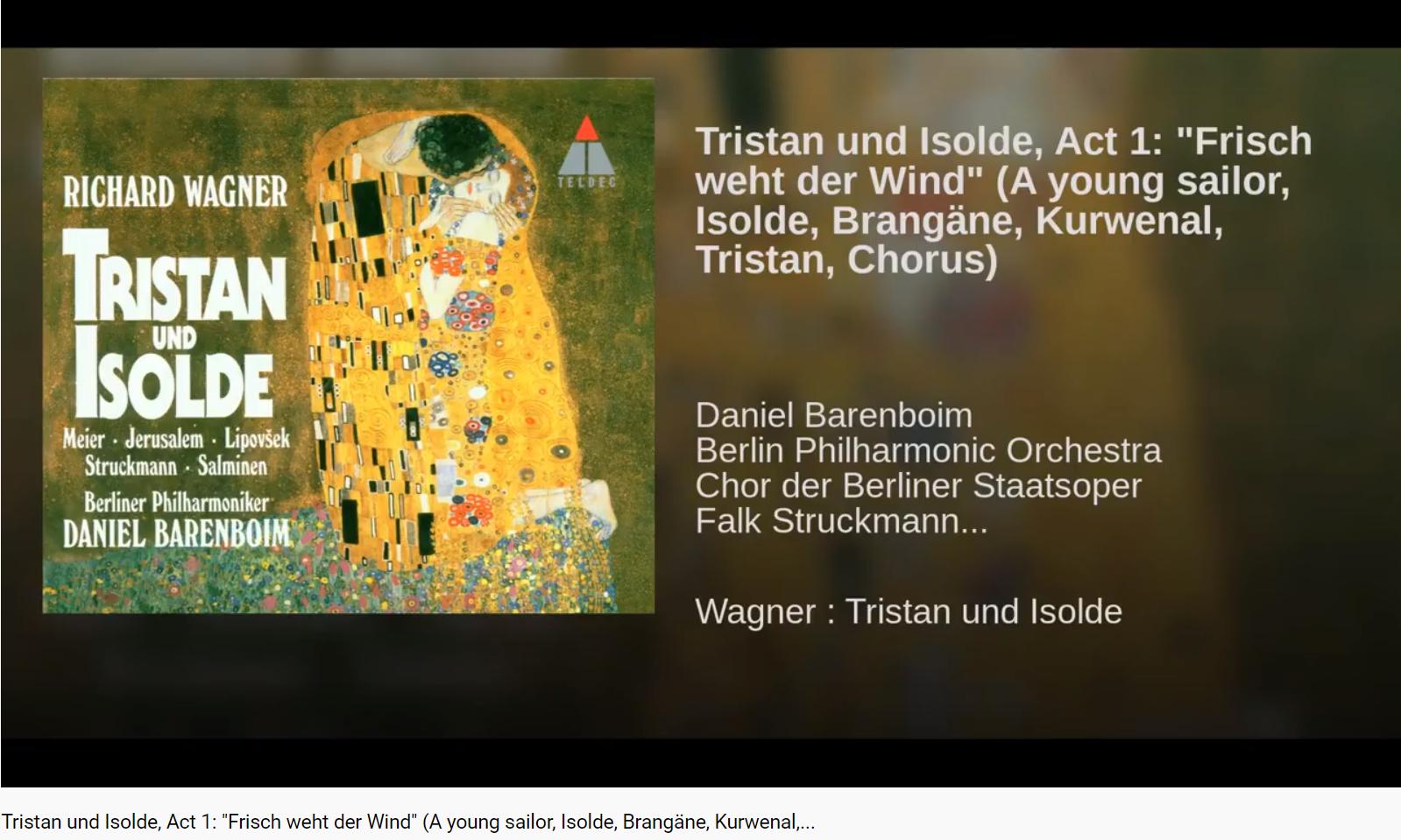 Wagner Tristan und Isolde Acte 1 scène 1 Frisch weht der Wind