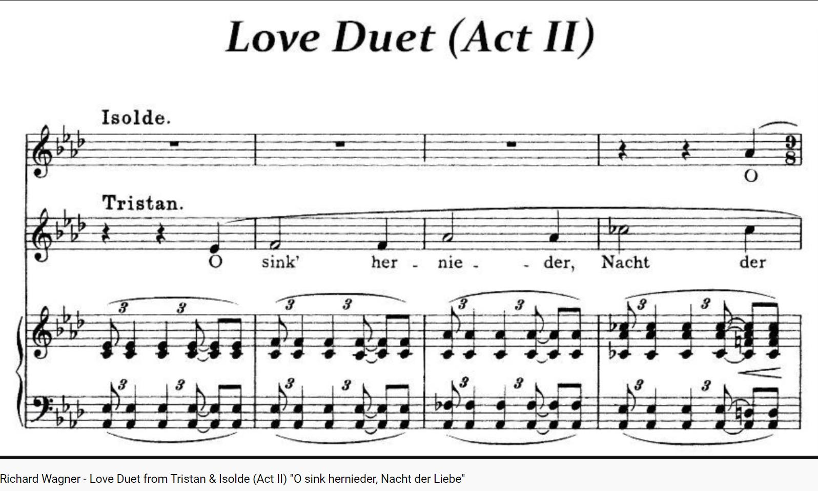 Wagner Tristan und Isolde O sink hernieder, Nacht der Liebe