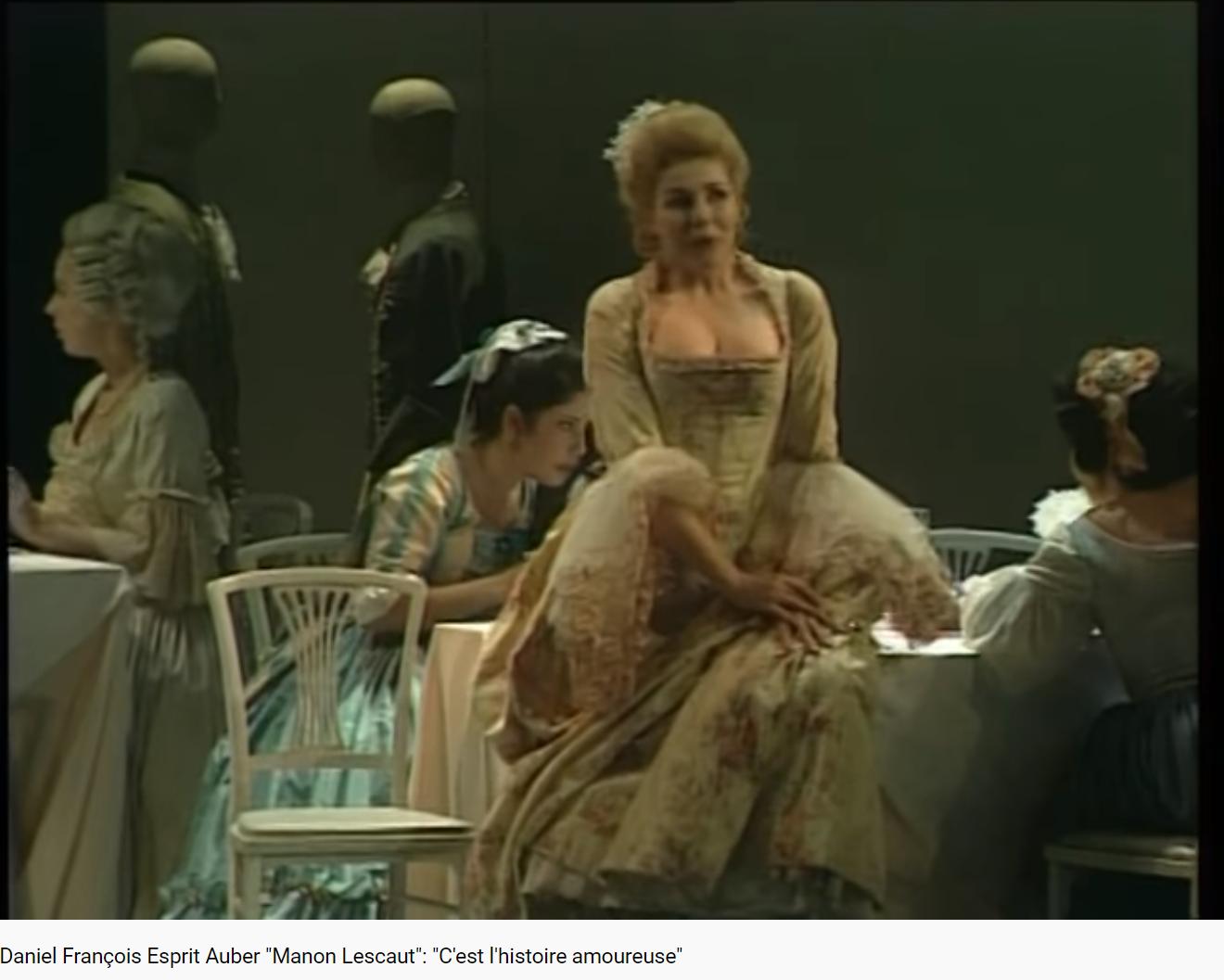 Auber Manon Lescaut C'est l'histoire amoureuse
