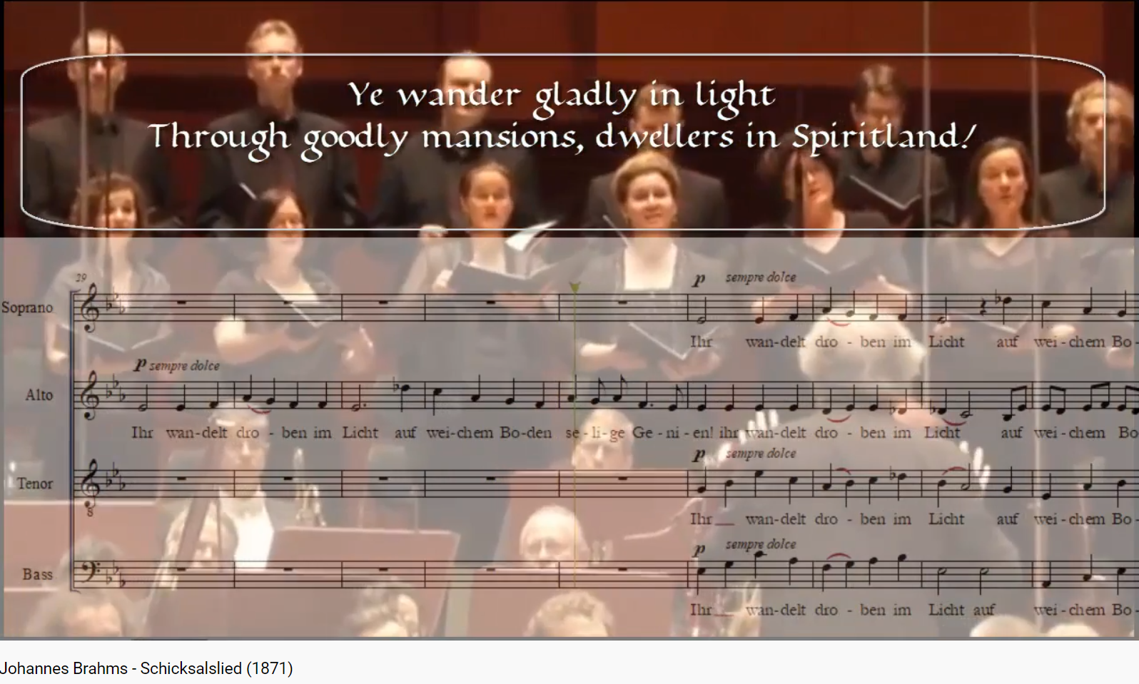 Brahms Schicksalslied