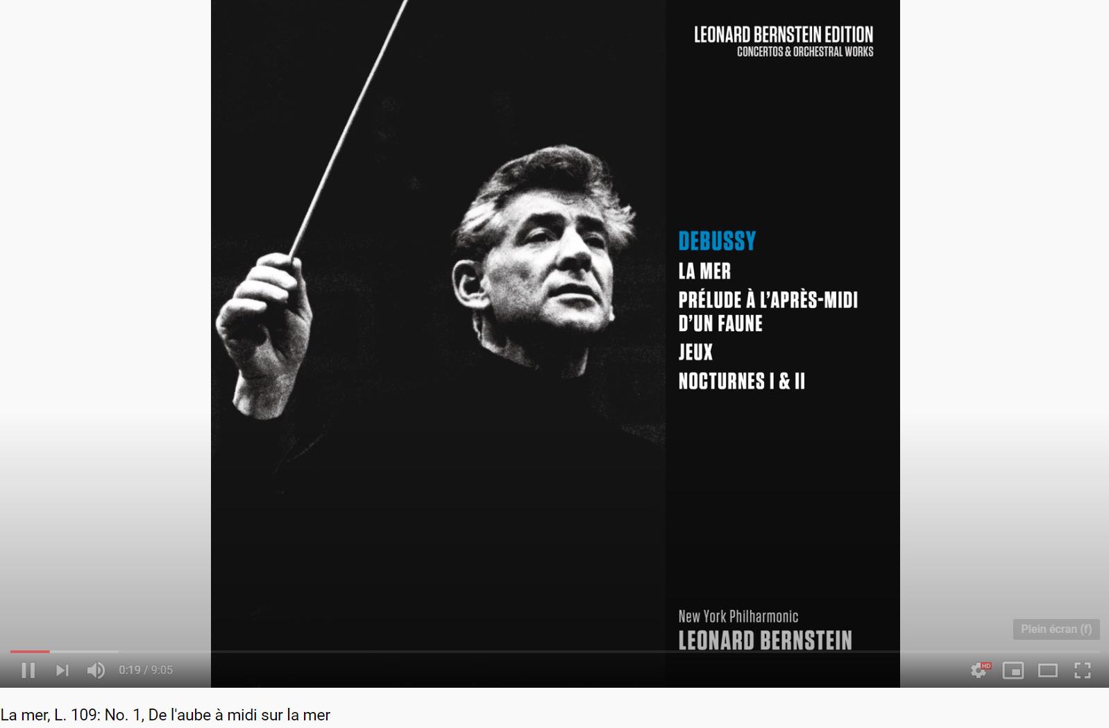 Debussy La Mer Bernstein