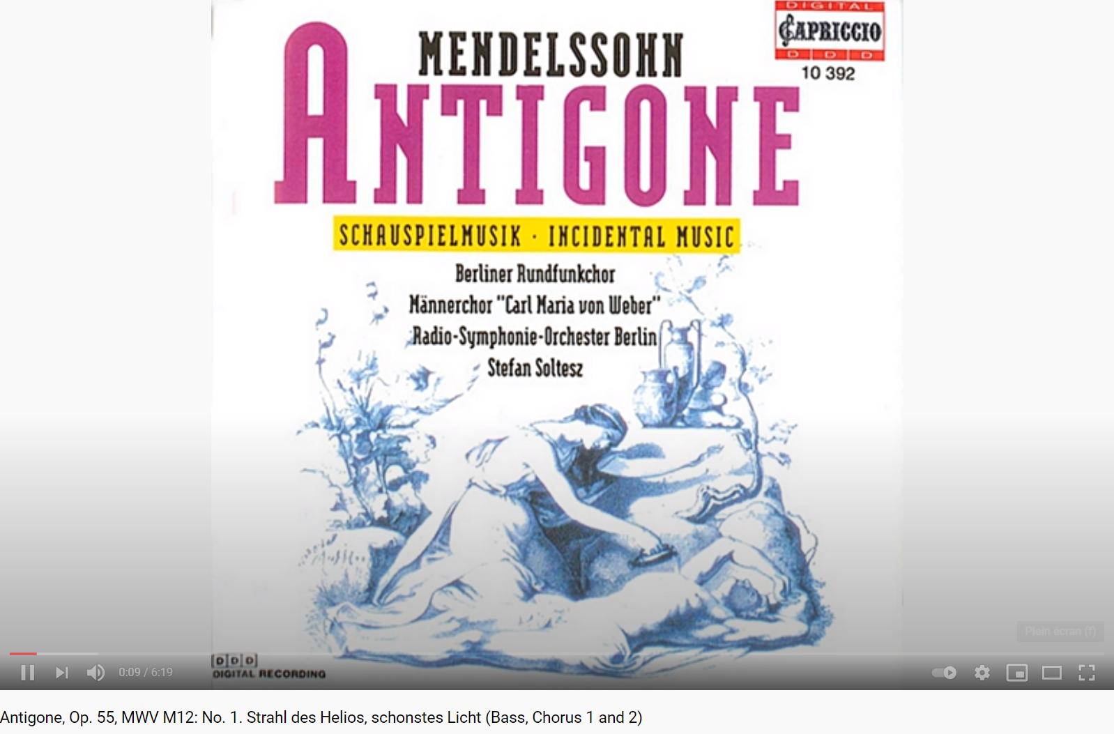 Mendelssohn Antigone
