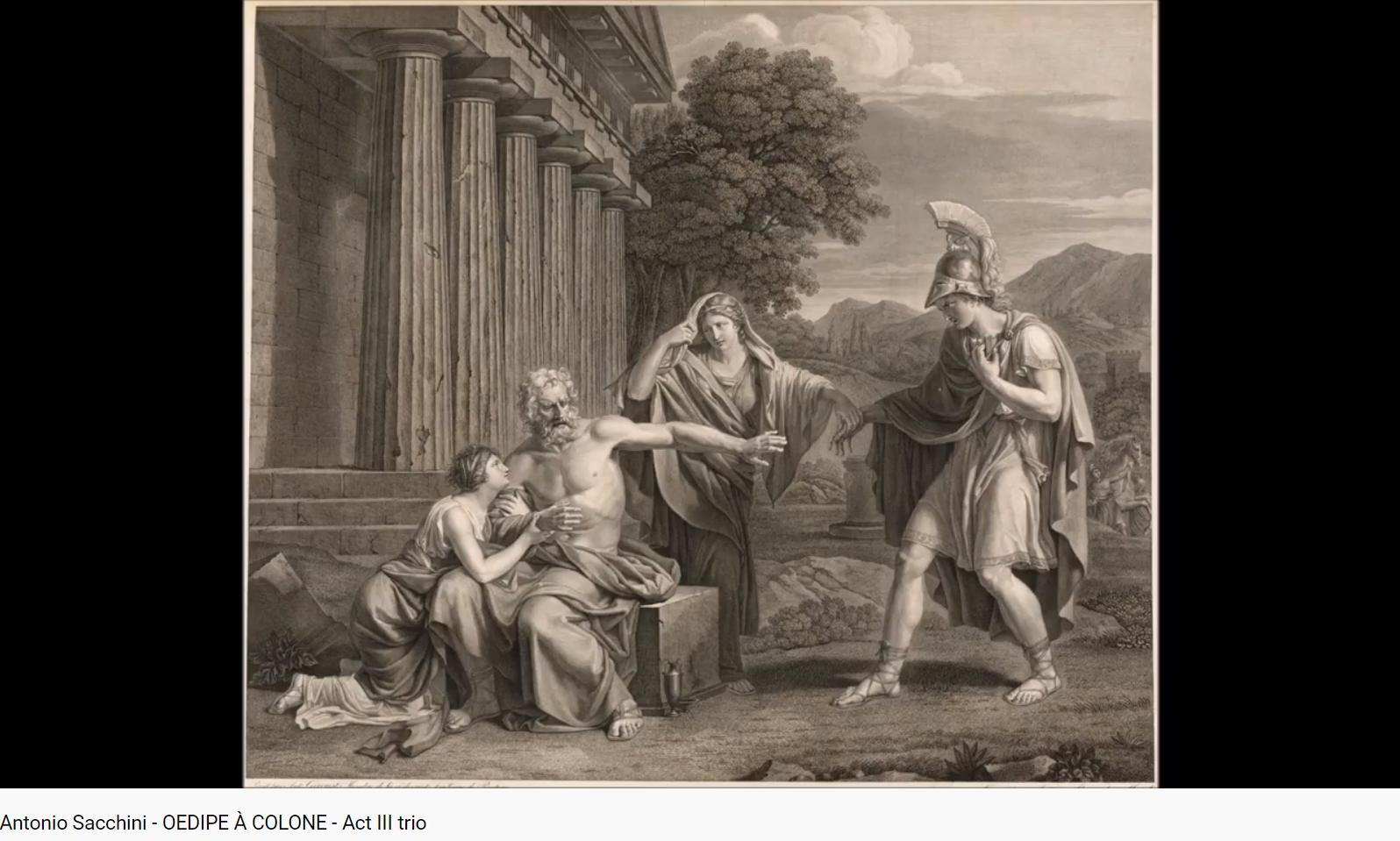 Sacchini Oedipe à Colone Trio de l'acte III