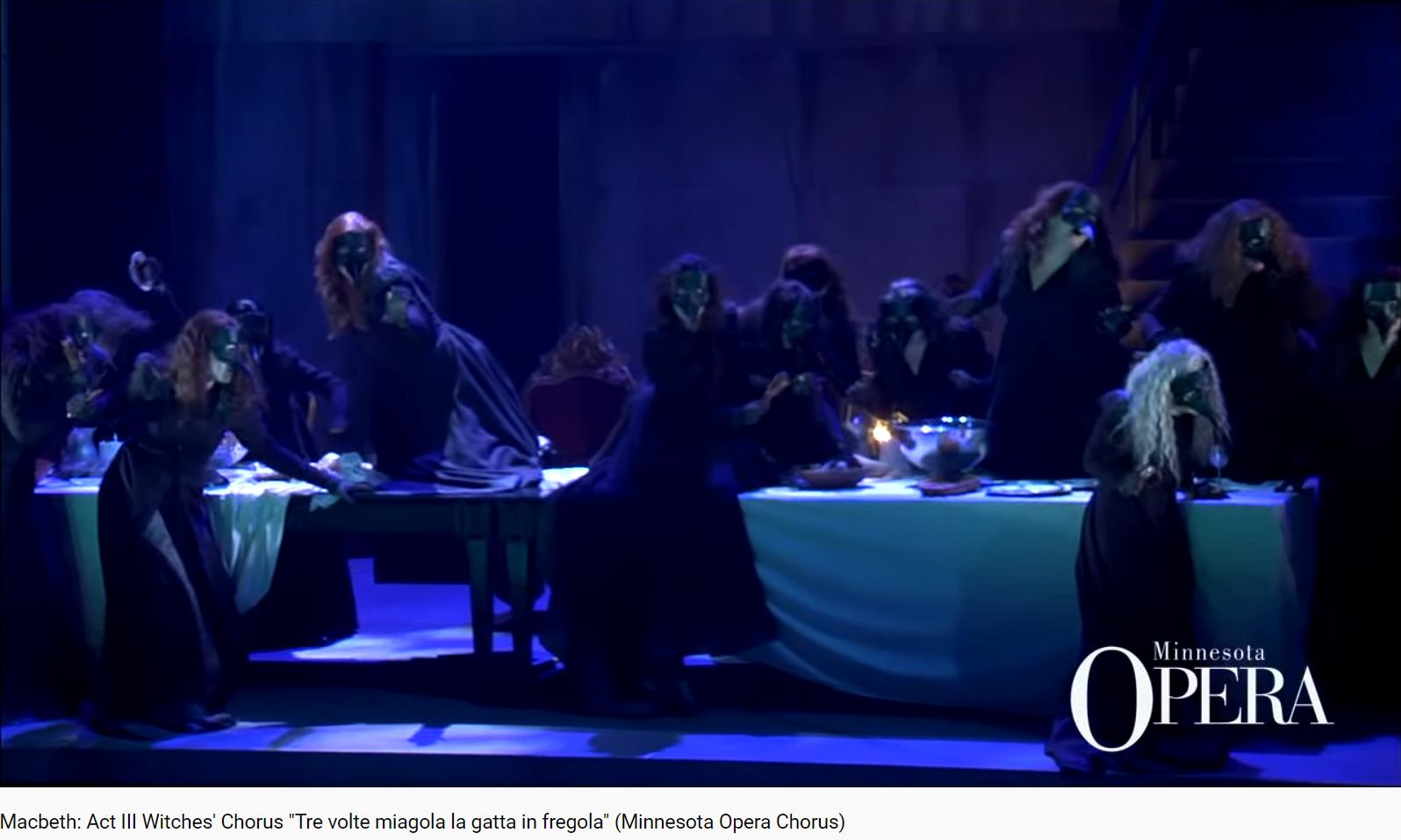 Verdi Macbeth Tre volte miagola la gatta in fregola