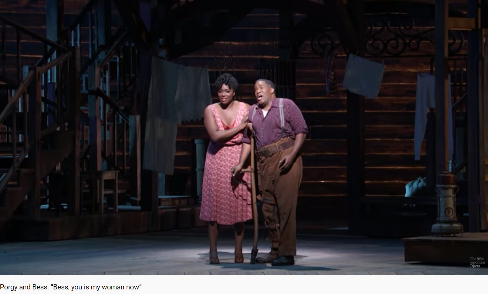 Gershwin Porgy and BEss Bess, you is my woman now (MET 2020)