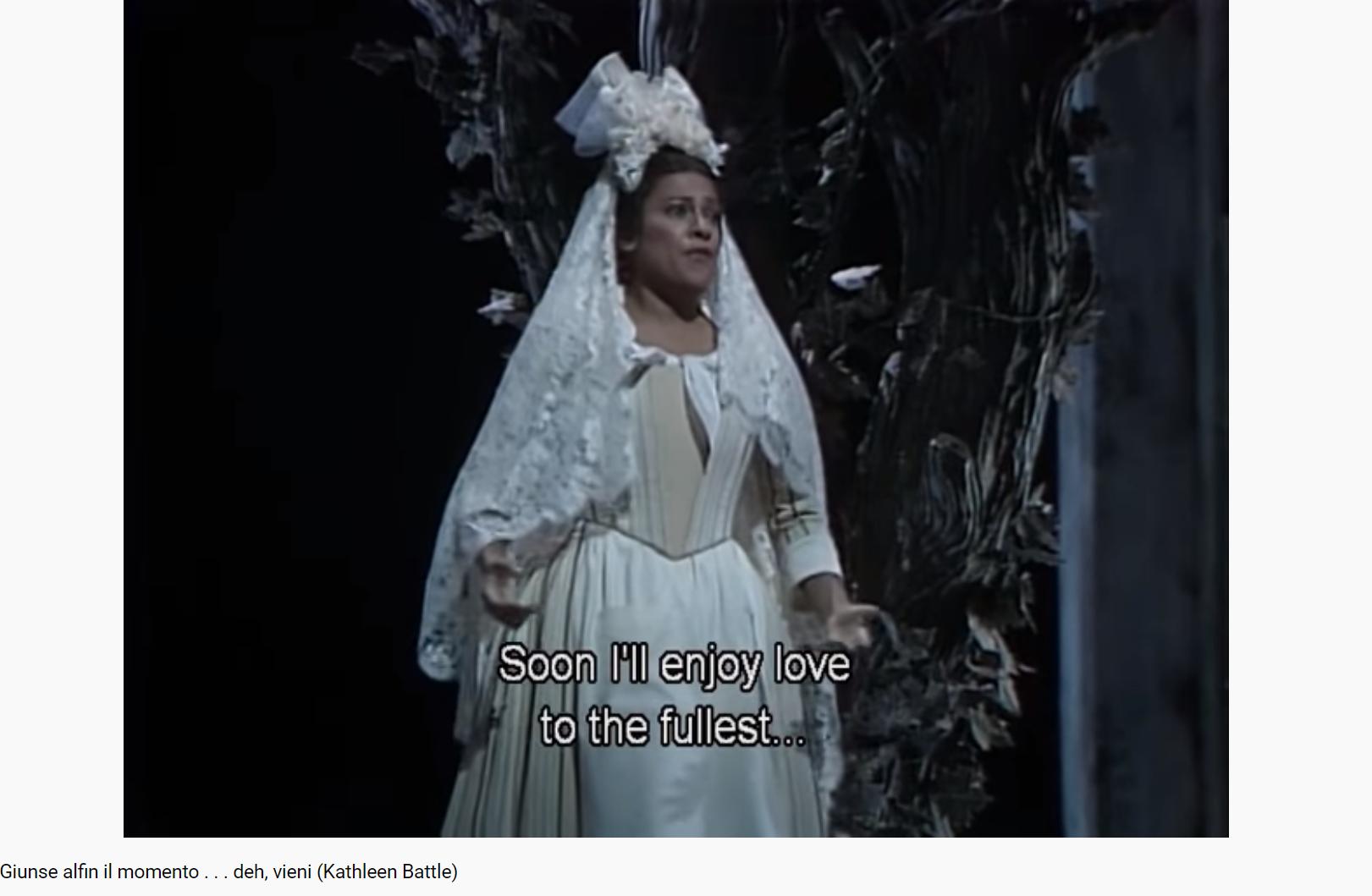 Mozart le Nozze di Figaro Giunse alfin il momento (MET 1985)