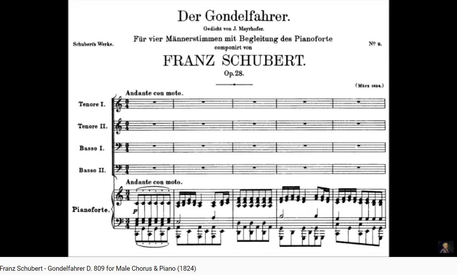 Schubert Gondelfahrer