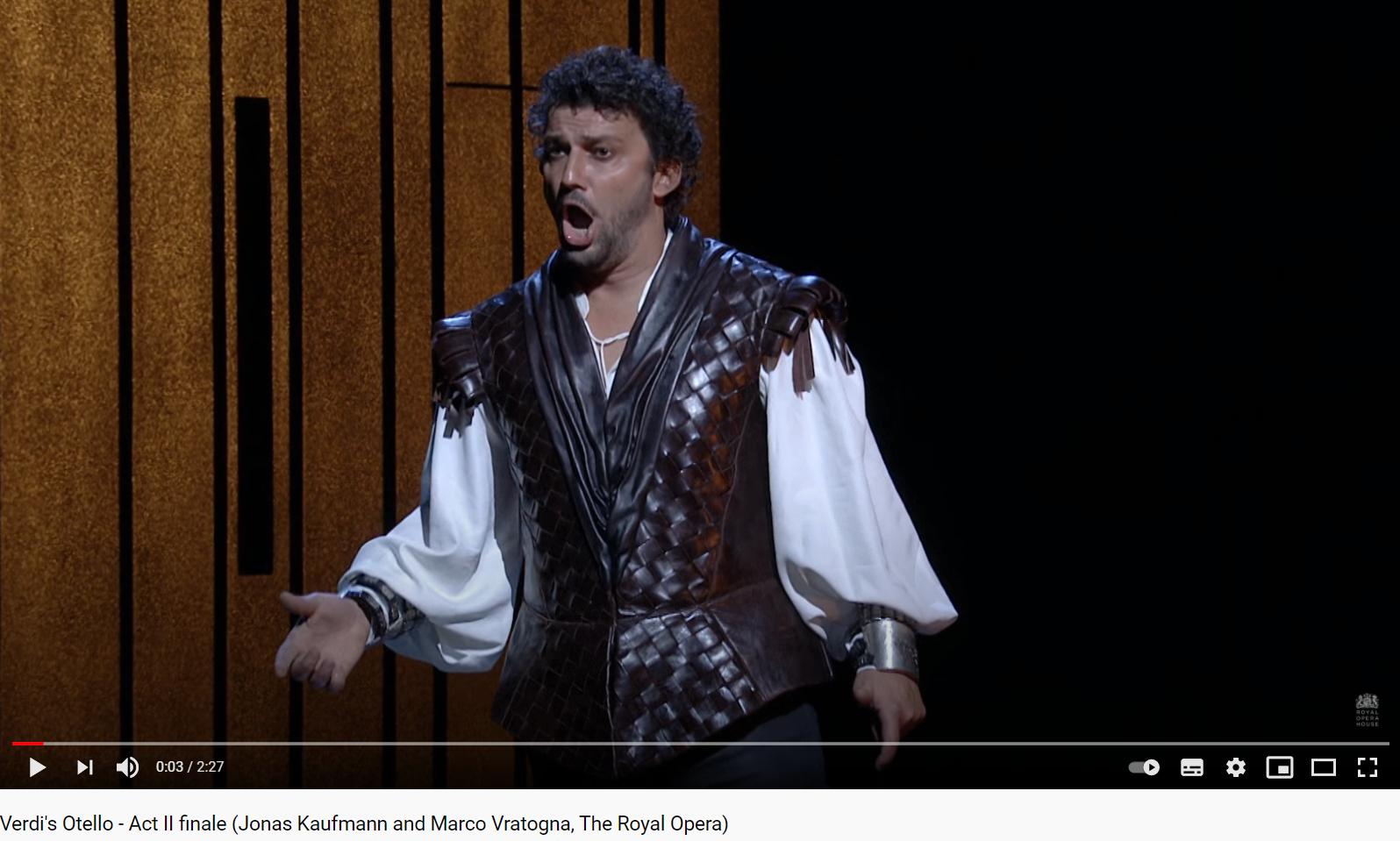 Verdi Otello final de l'acte II