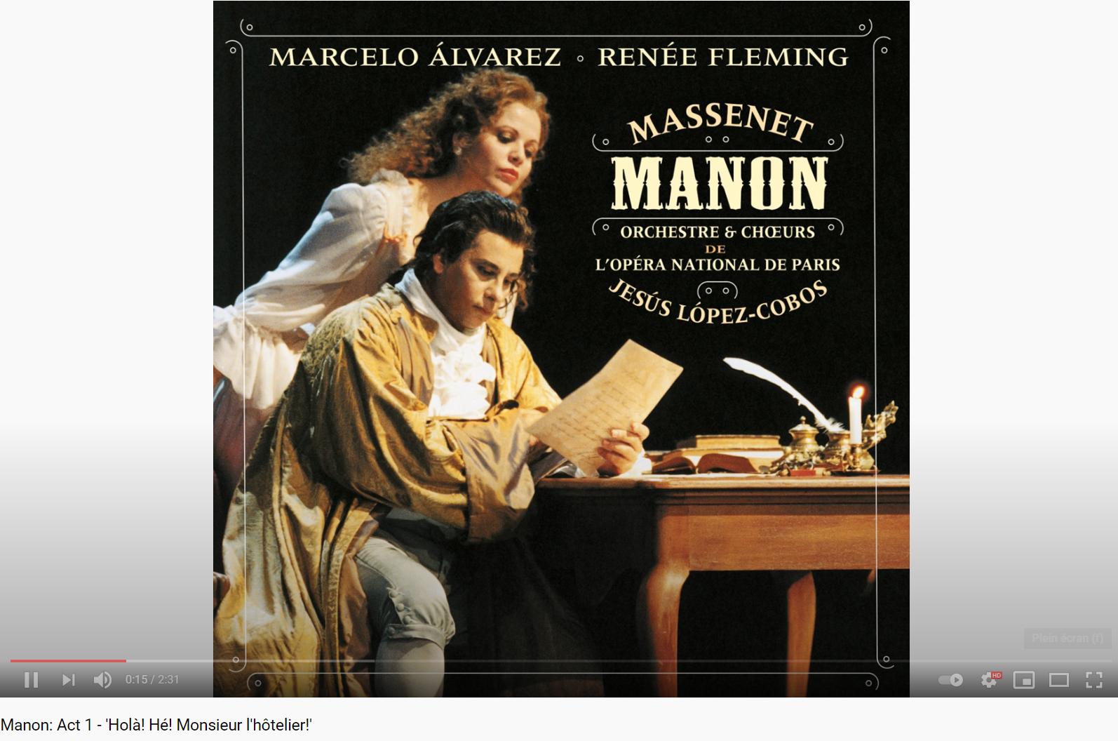Massenet Manon Holà Monsieur l'hôtelier