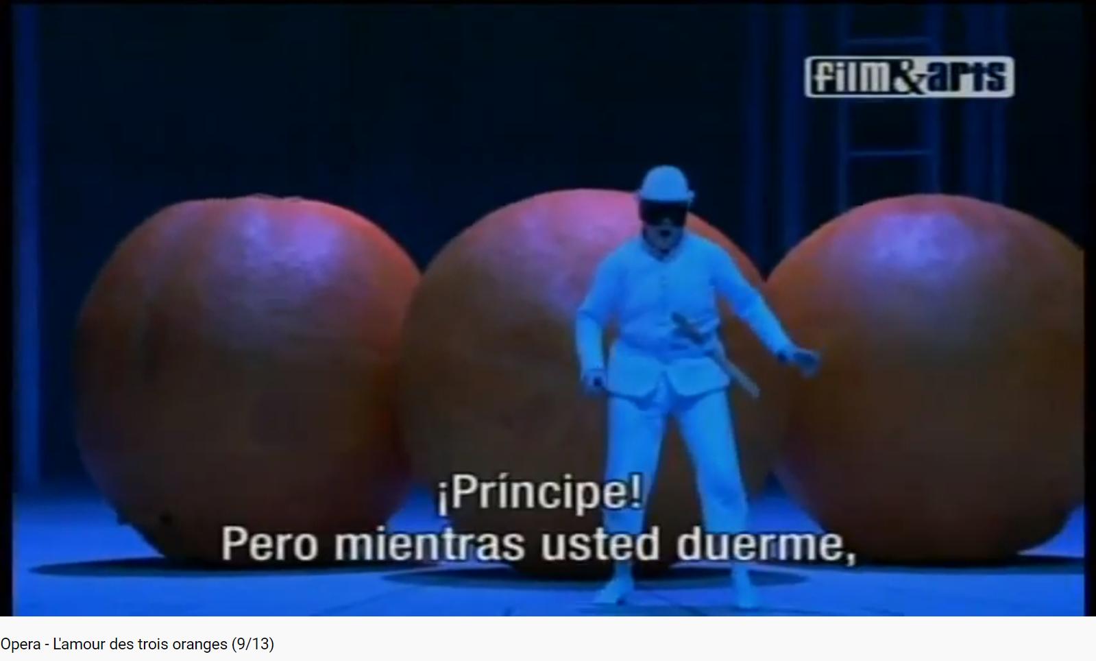 Prokofiev l'Amour des 3 oranges les 3 oranges