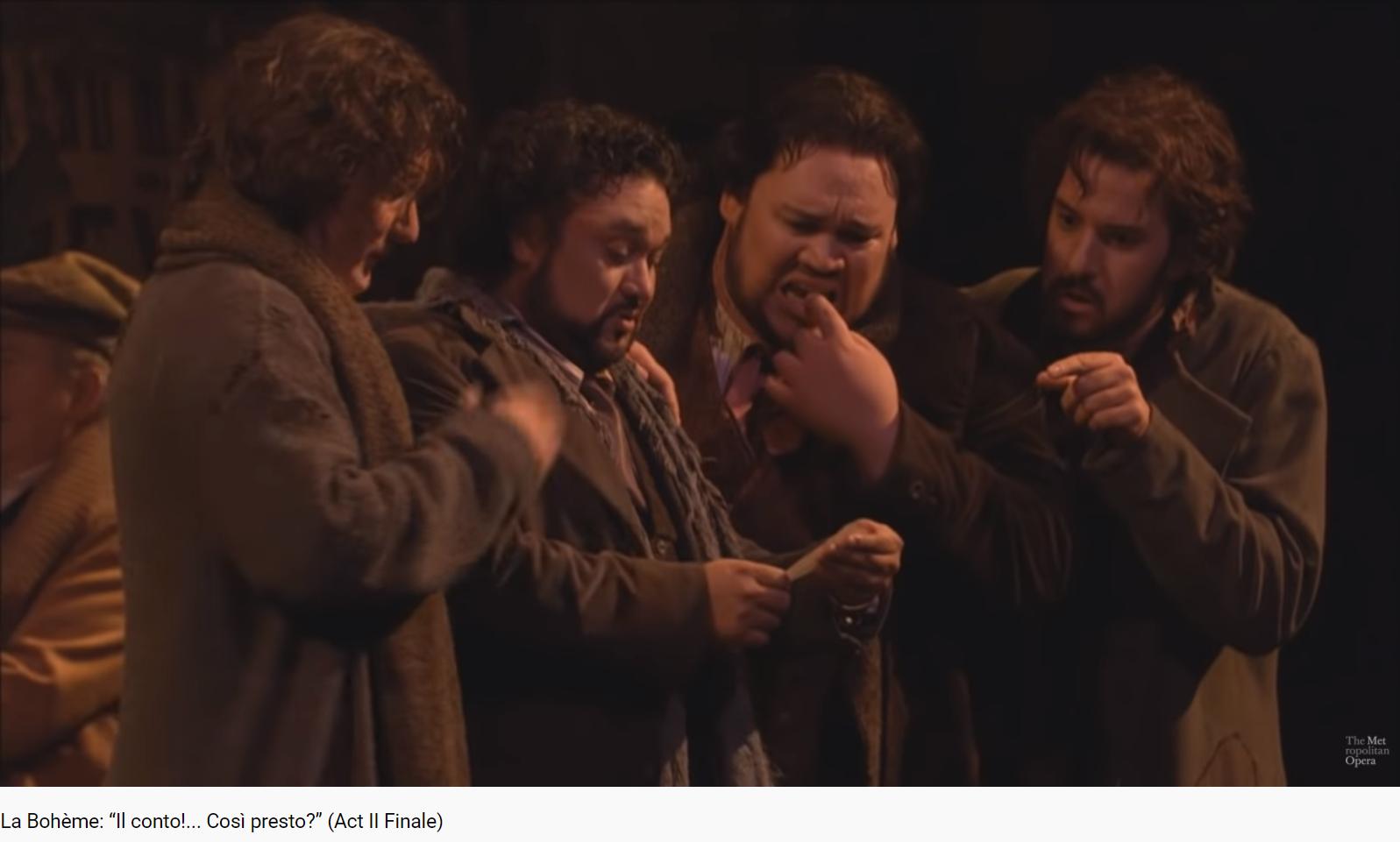 Puccini La Bohème final acte II