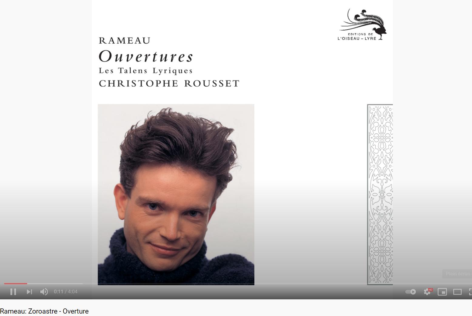 Rameau Zoroastre Ouverture