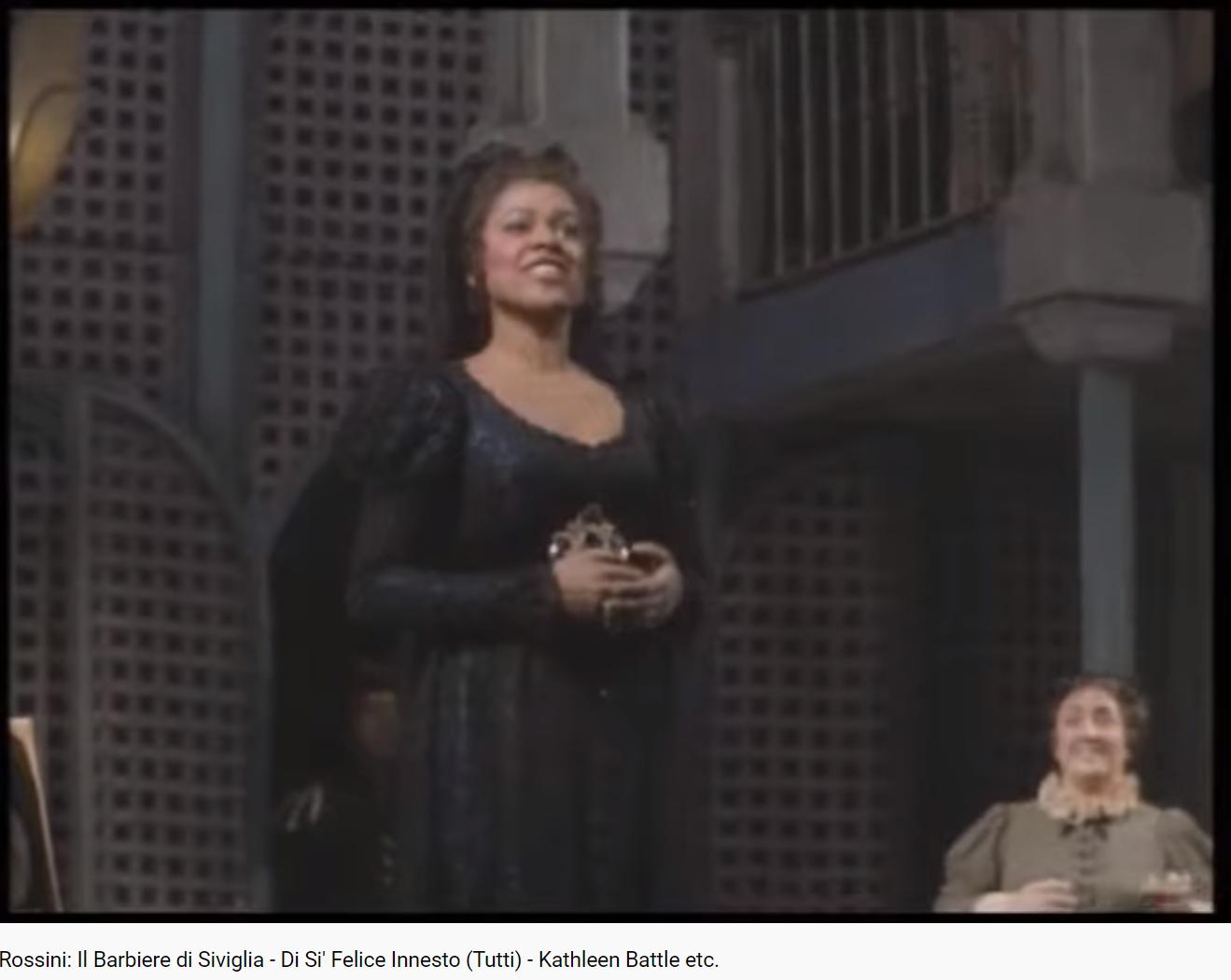 Rossini Il Barbieri di Seviglia Di Si'Felice innesto (MET 1988)