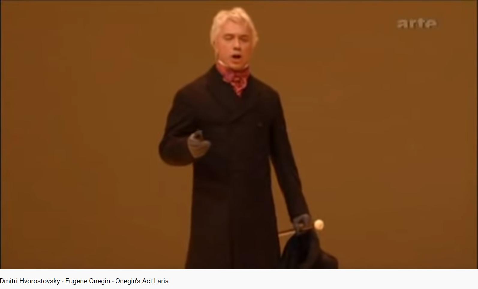 Tchaïkovski Eugène Onéguine air d'Onéguine de l'acte I (MET 2007)