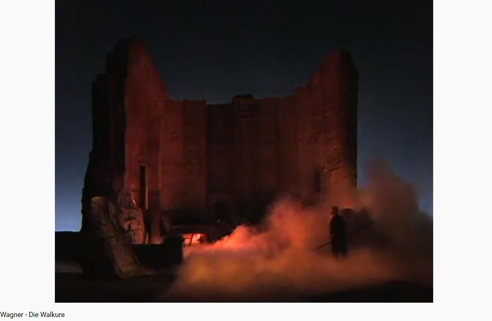 Wagner die Walküre scène du feu