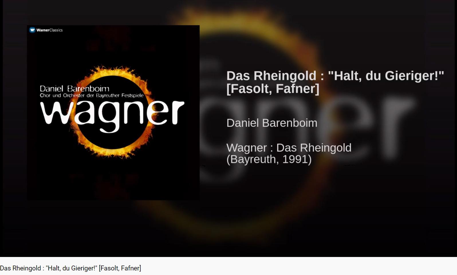 Wagner Rheingold HAlt, du Gieriger