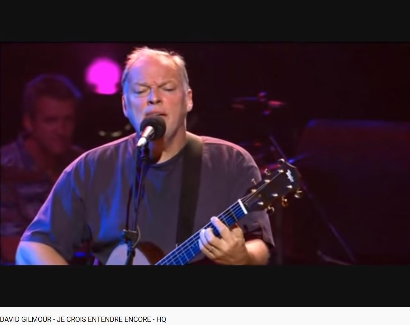Bizet les pêcheurs de perle je crois entendre encore Gilmour