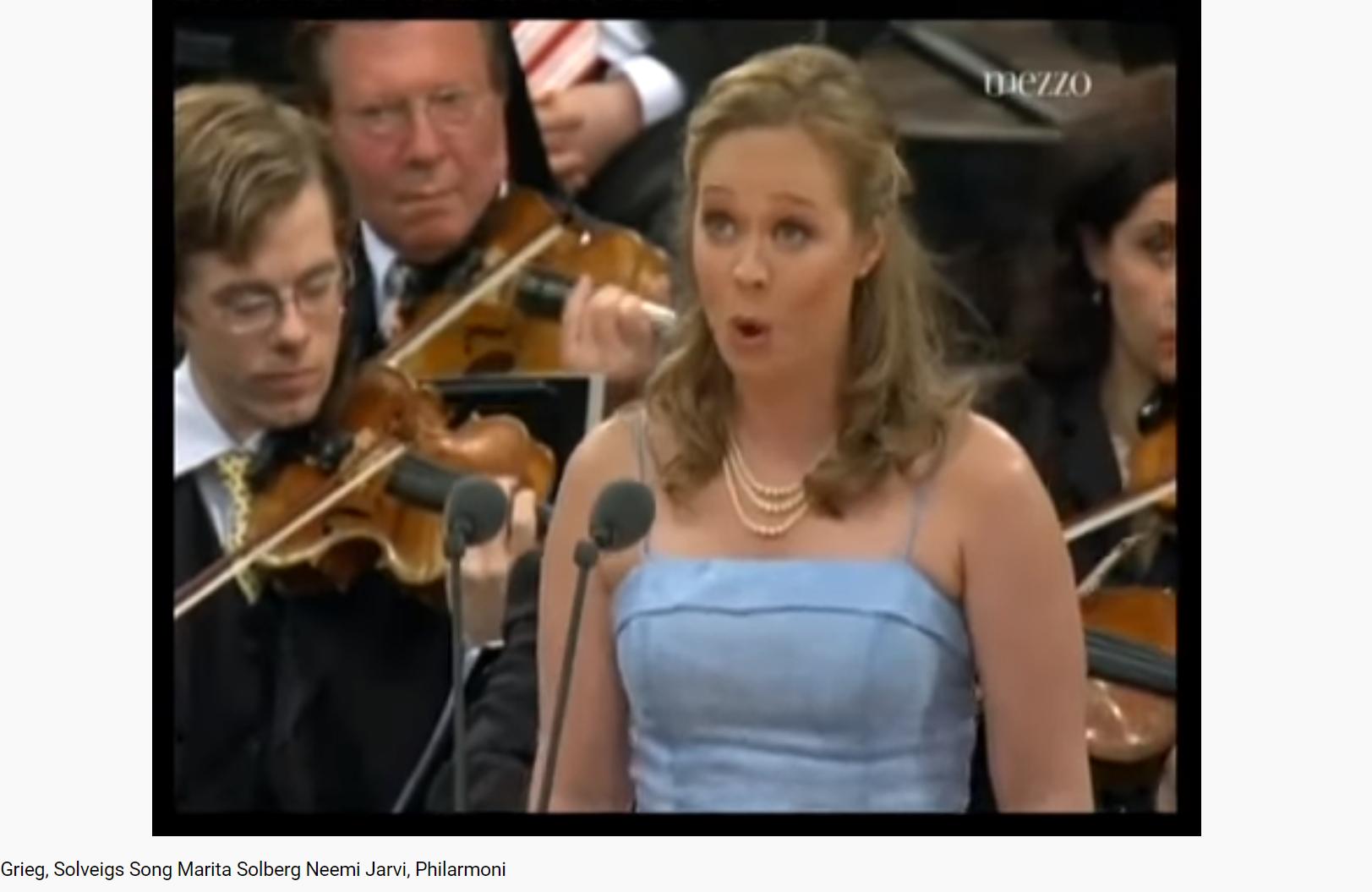 Grieg Peer Gynt chanson de Solveig