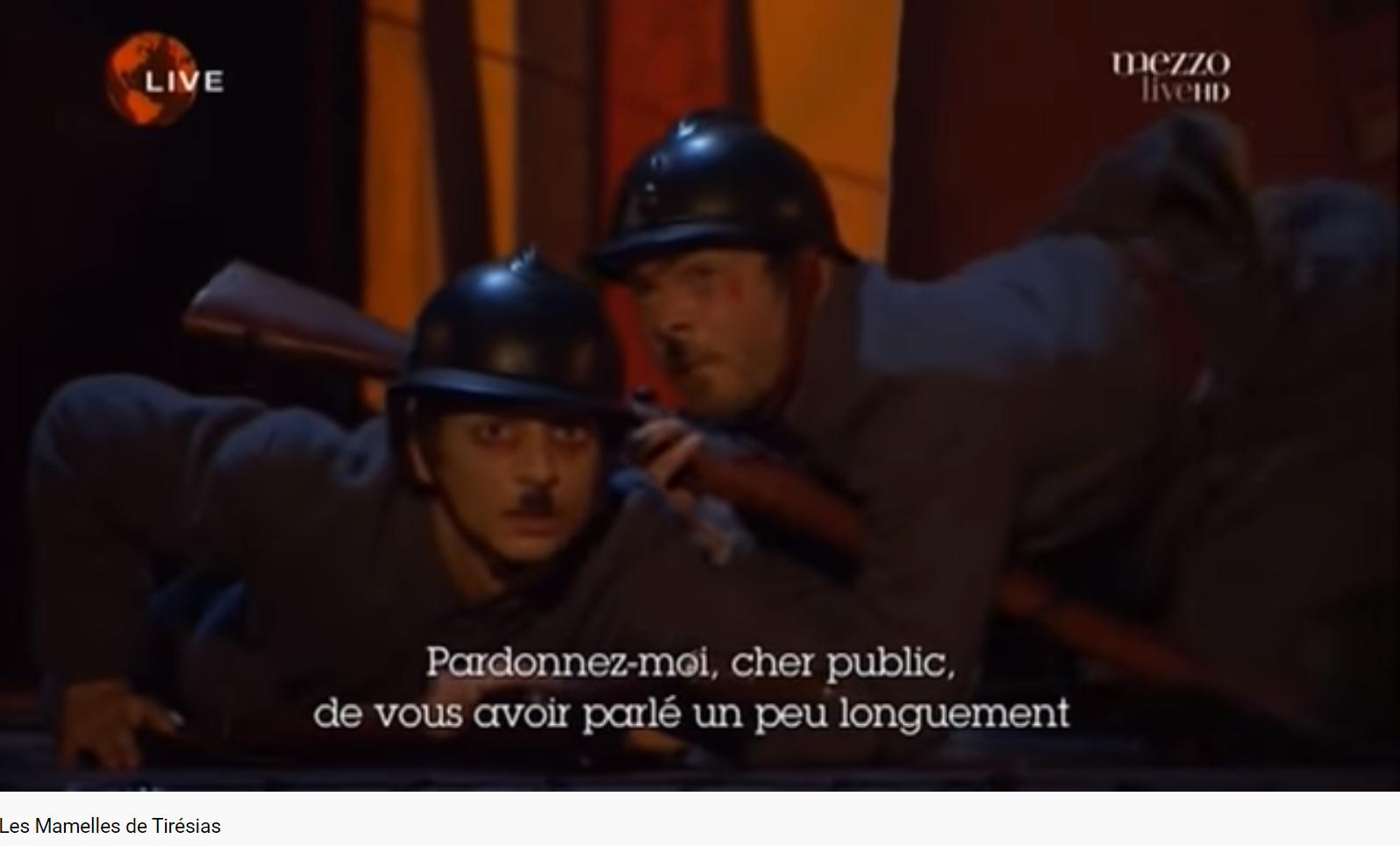 Poulenc Les Mamelles de Tirésias Pardonnez moi cher public