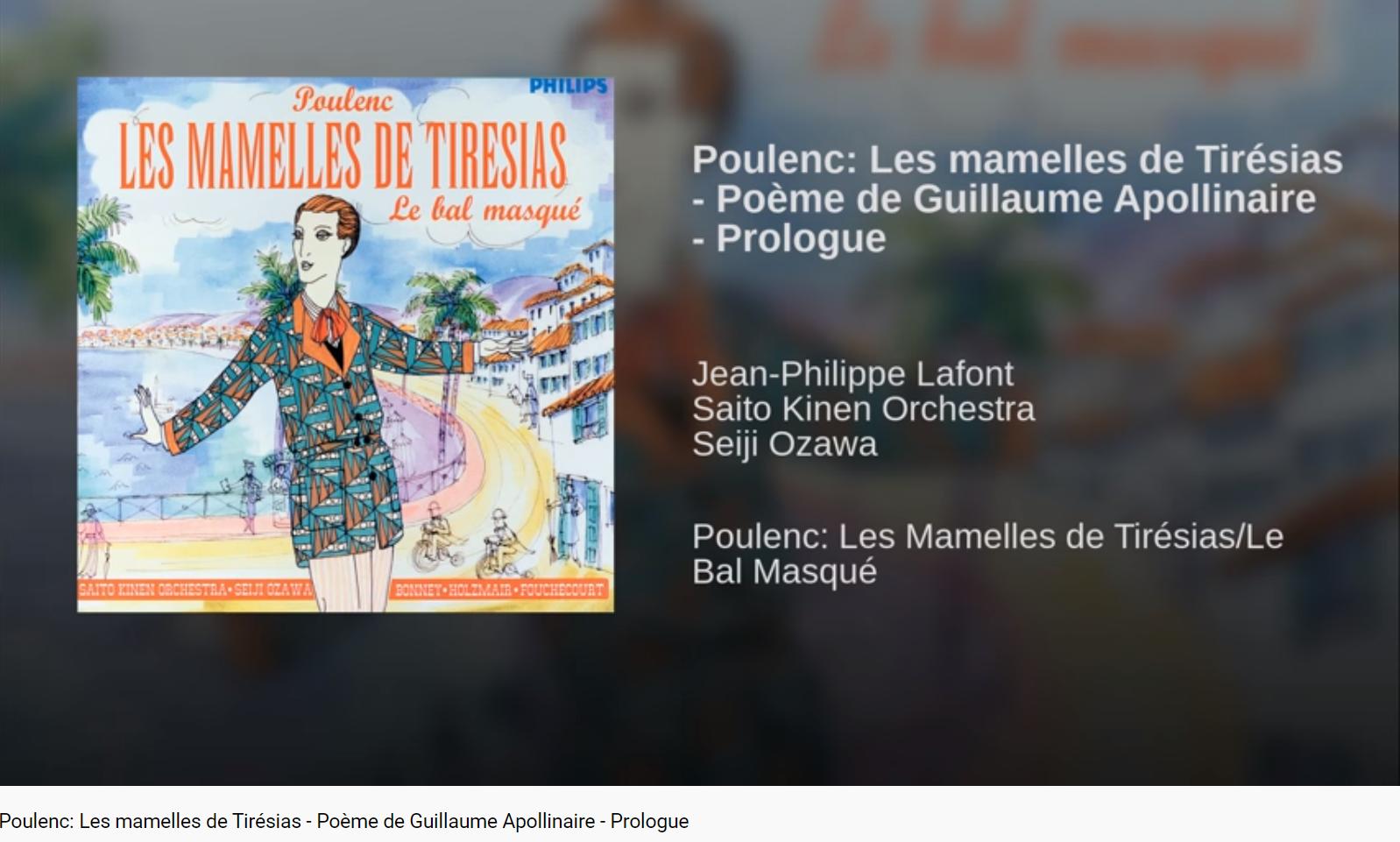 Poulenc Les Mamelles de Tirésias Prologue