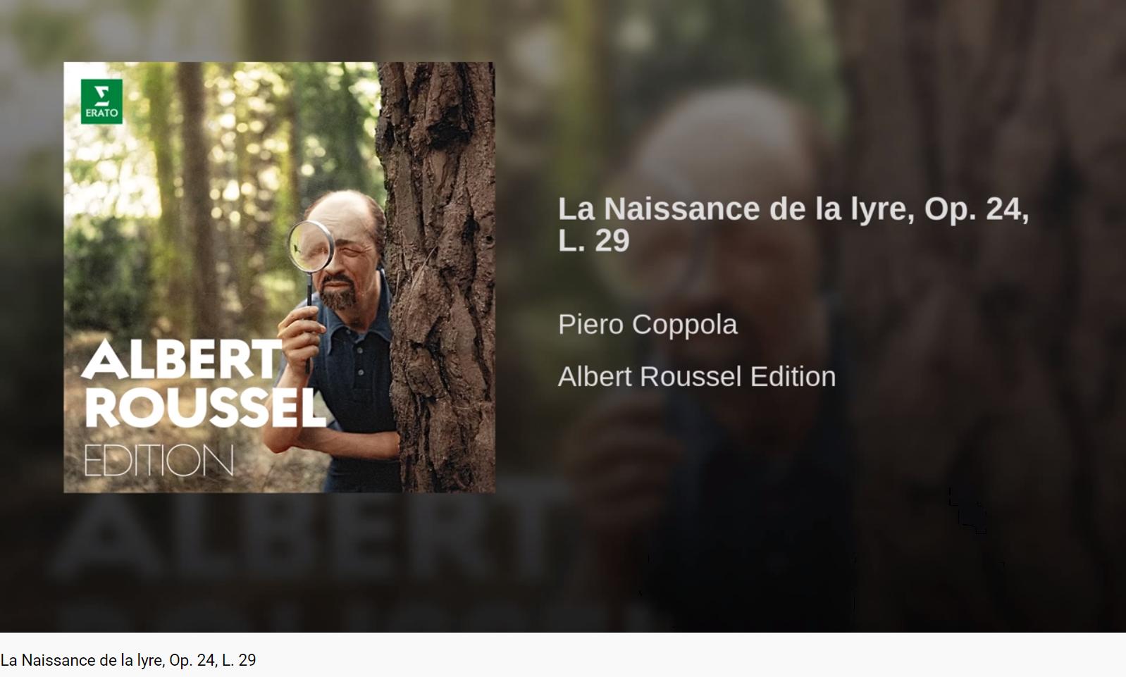 Roussel La Naissance de la lyre