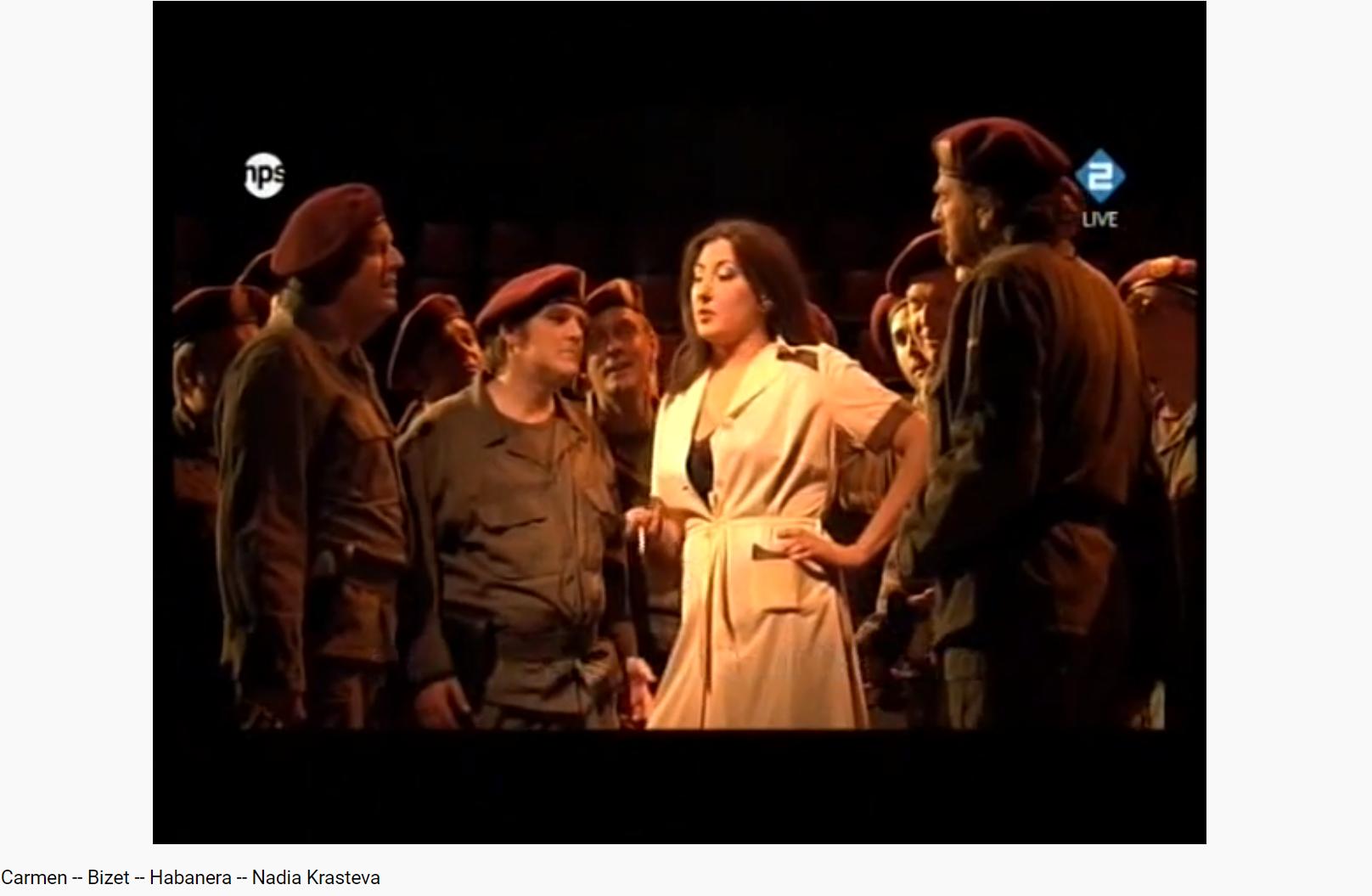 Bizet Carmen Carmen sois-gentille et au moins réponds nous