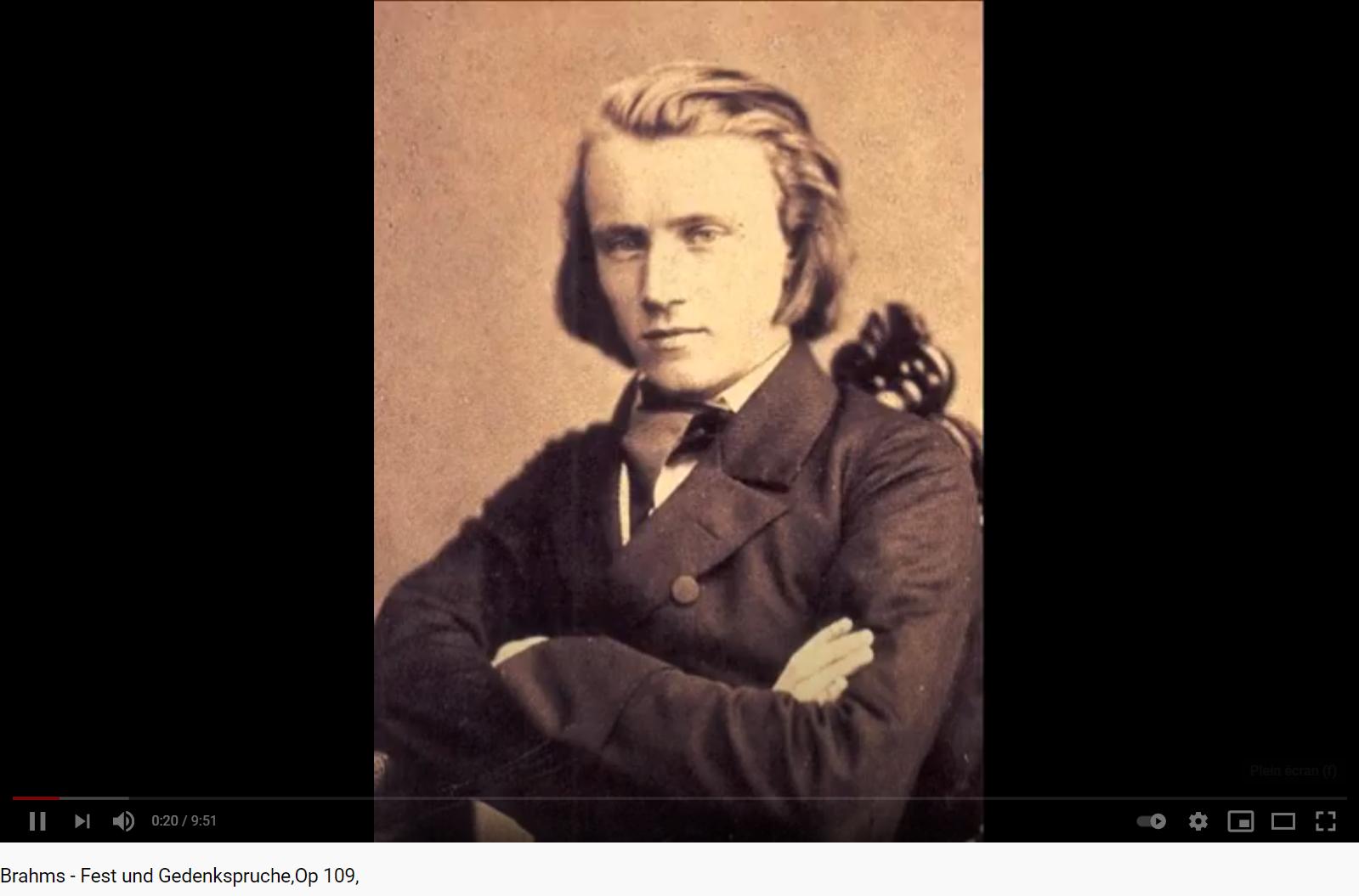 Brahms Fest und Gedenkspruche opus 109