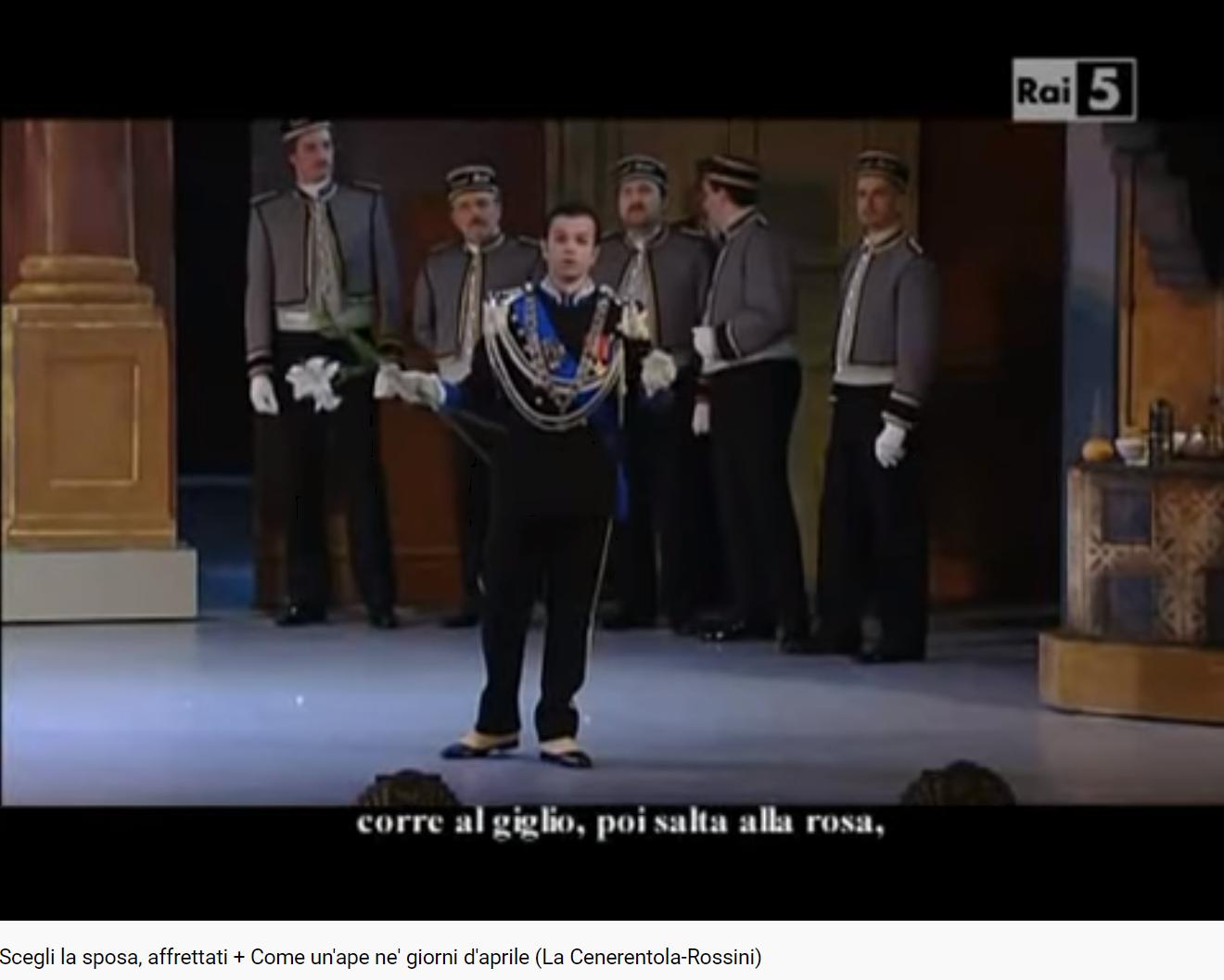 Rossini la Cenerentola Come un'ape ne' giorni d'aprile