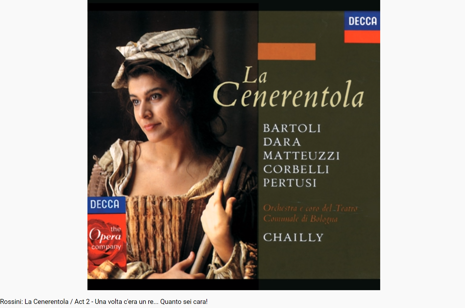 Rossini la Cenerentola Una volta c'era un re