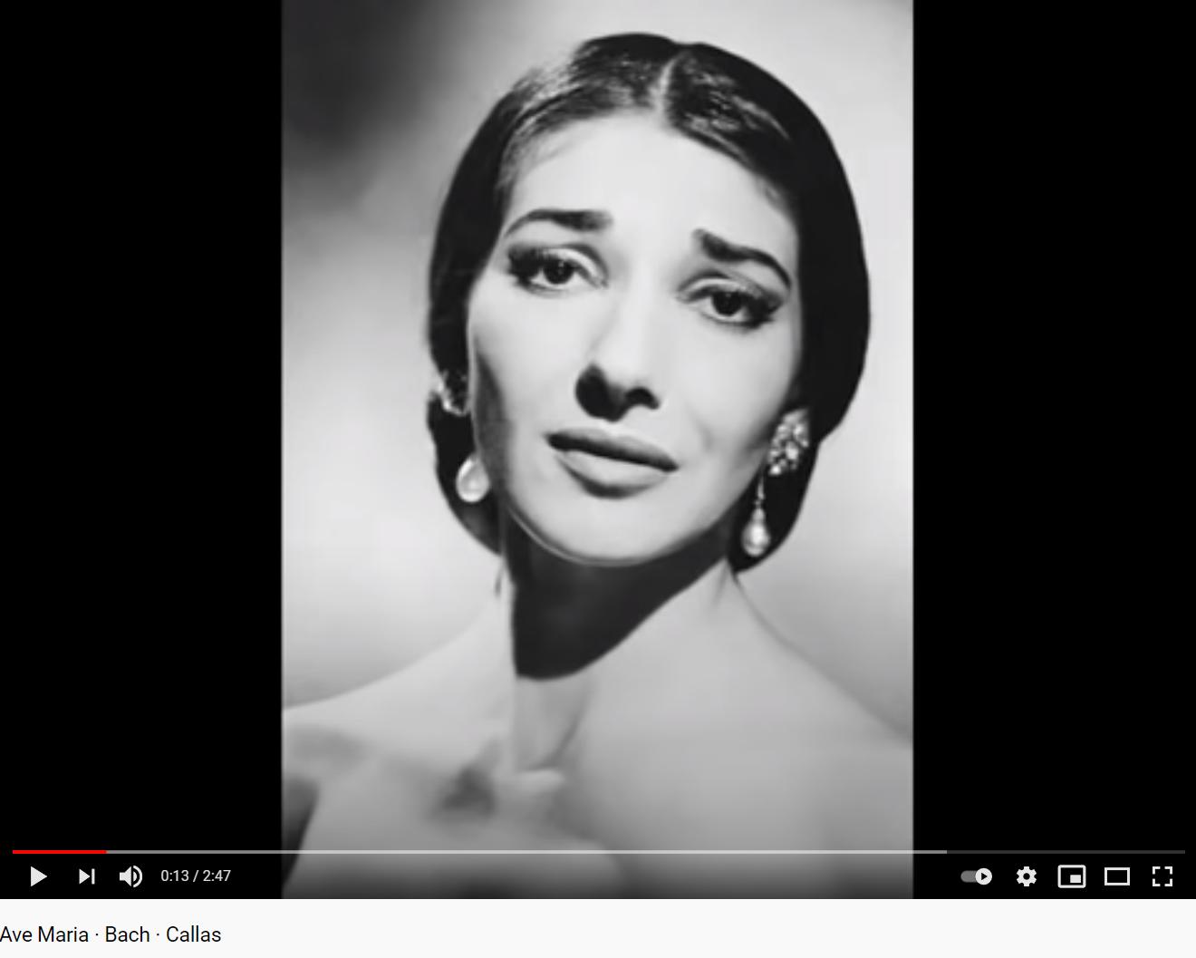 Schubert Ave Maria Callas