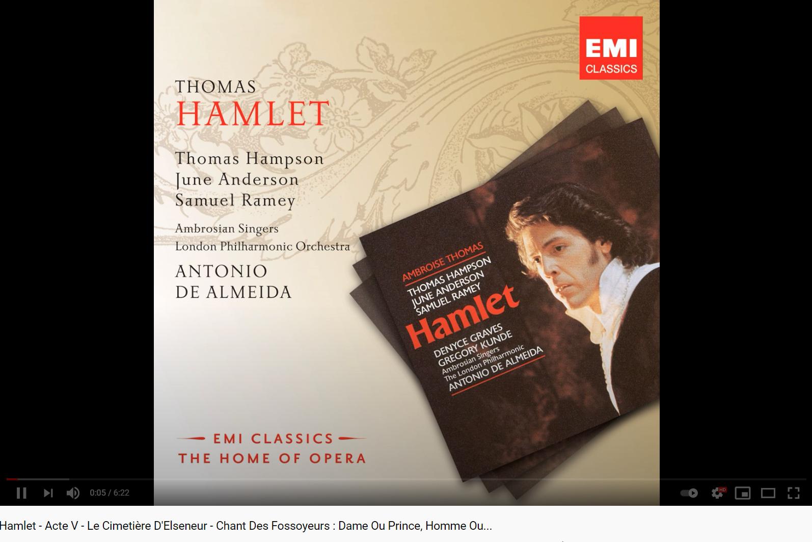 Thomas Hamlet le chant des fossoyeurs