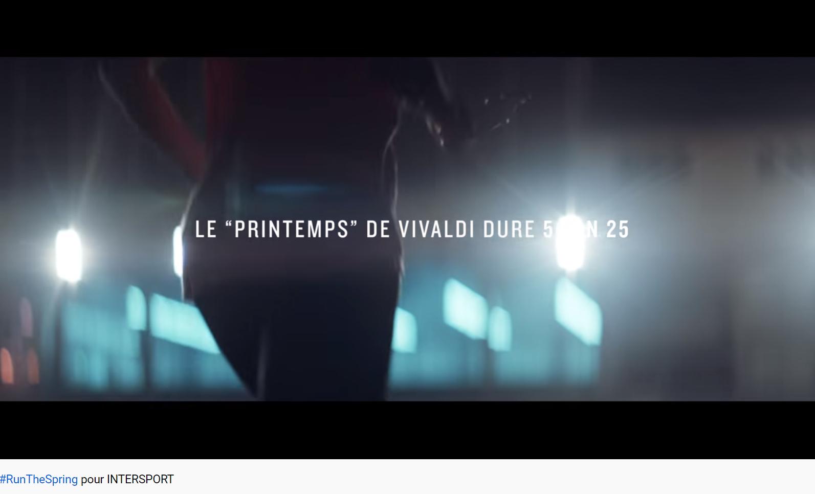 Vivaldi 4 Saisons le Printemps pub Intersport