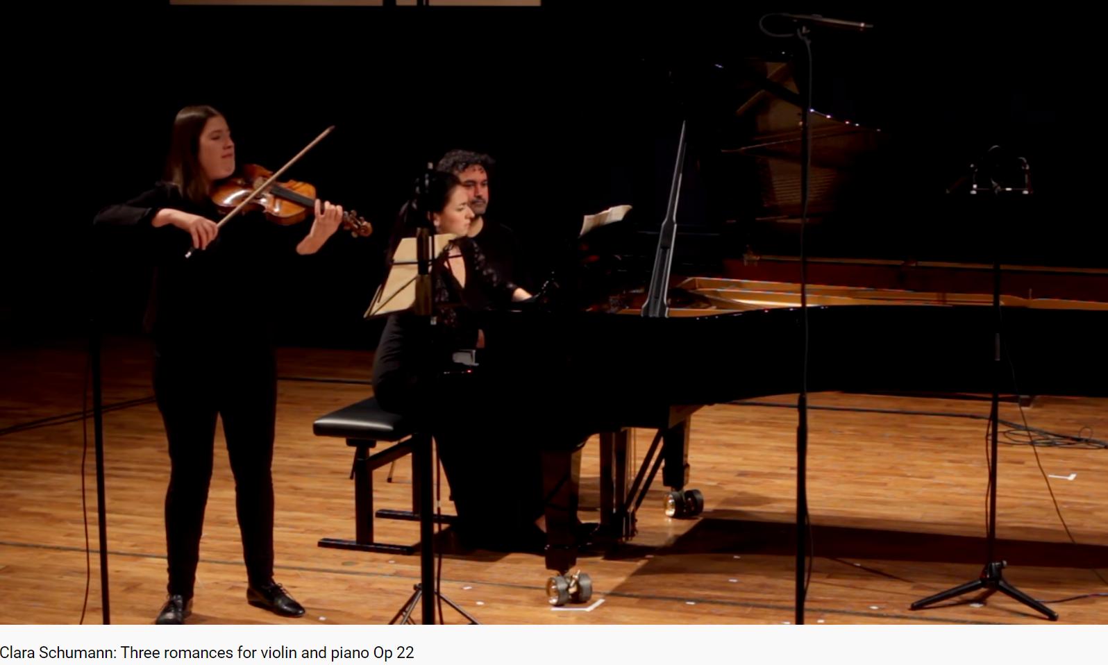 Clara schumann trois romances pour violon et piano opus 22