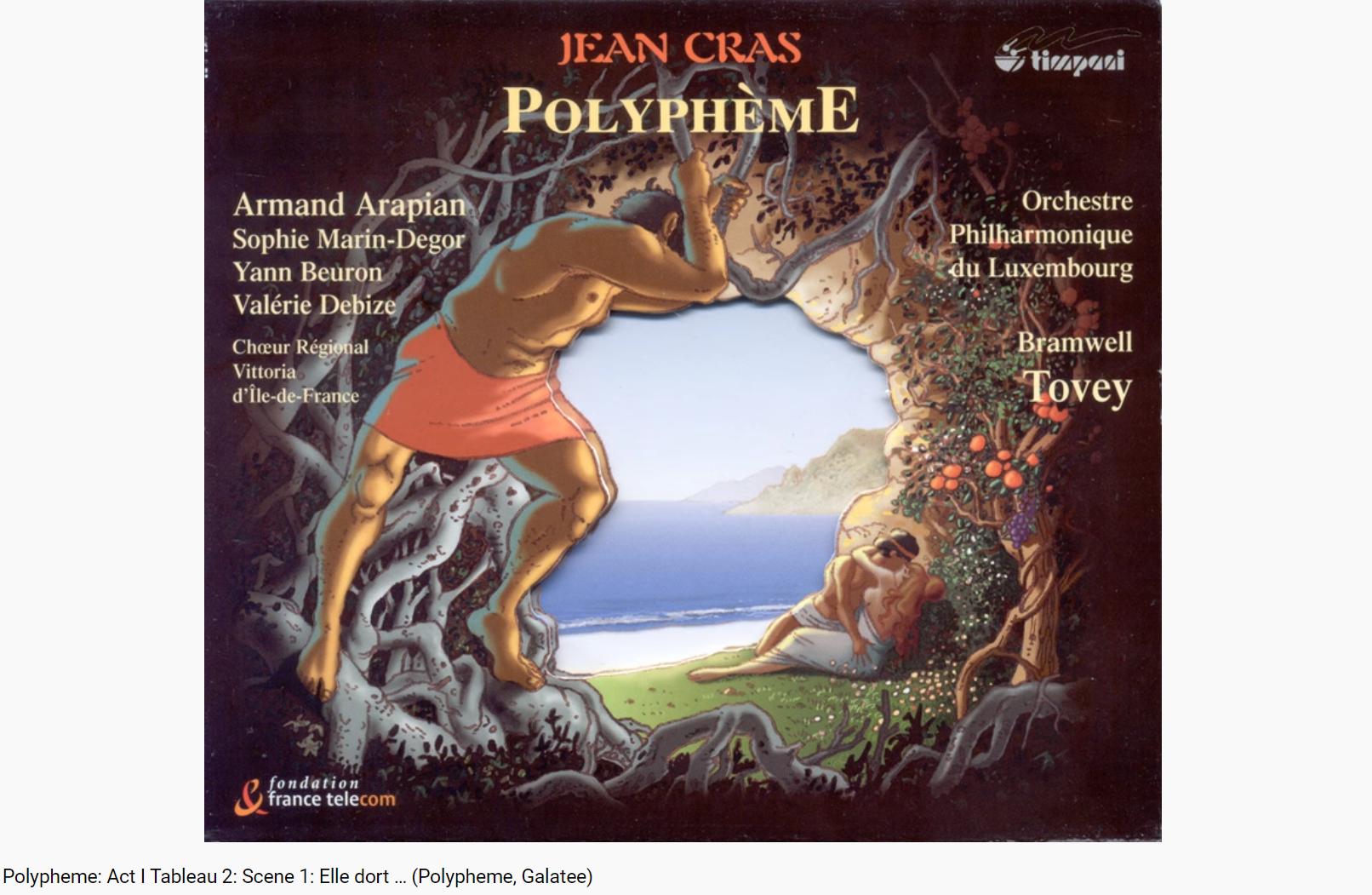 Cras Polyphème Acte I Elle dort