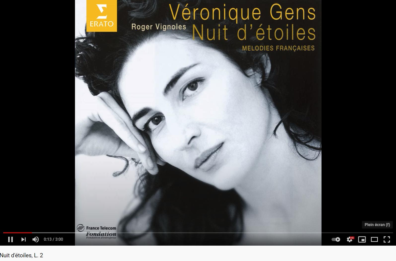 Debussy Nuit d'étoiles (Véronique Gens)