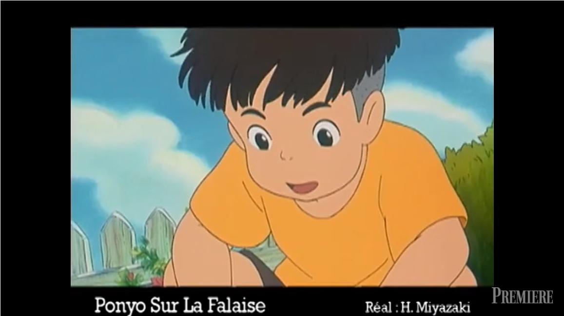 Hisaichi Ponyo sur la falaise première rencontre Sosuke Ponyo