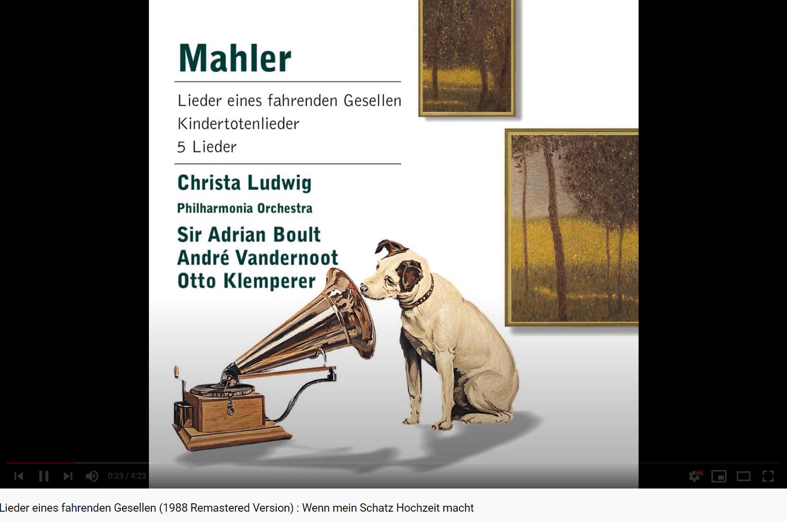 Mahler Lieder eines fahrenden Gesellen (Christa Ludwig)
