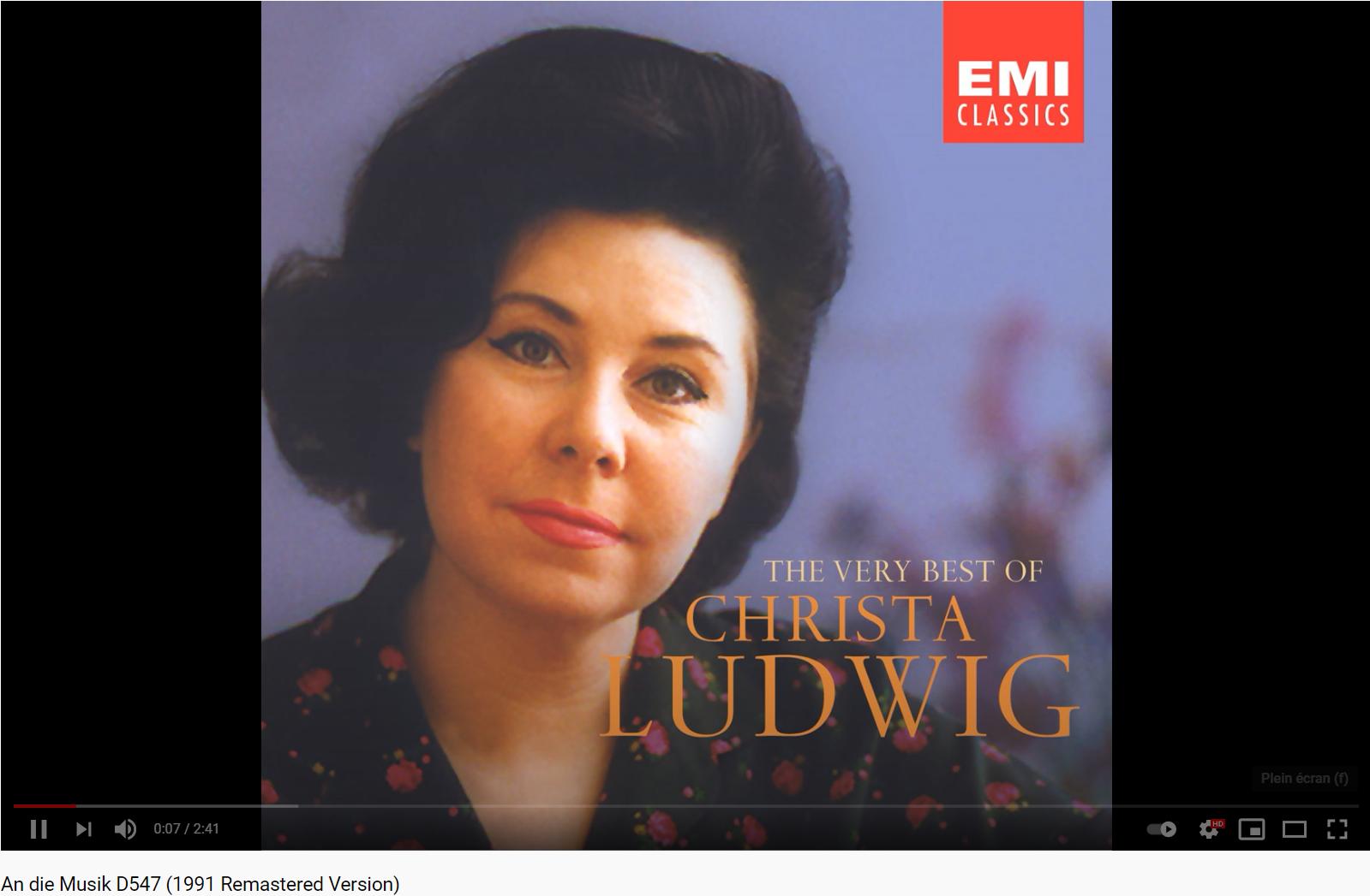 Schubert An die Musik (Christa Ludwig)