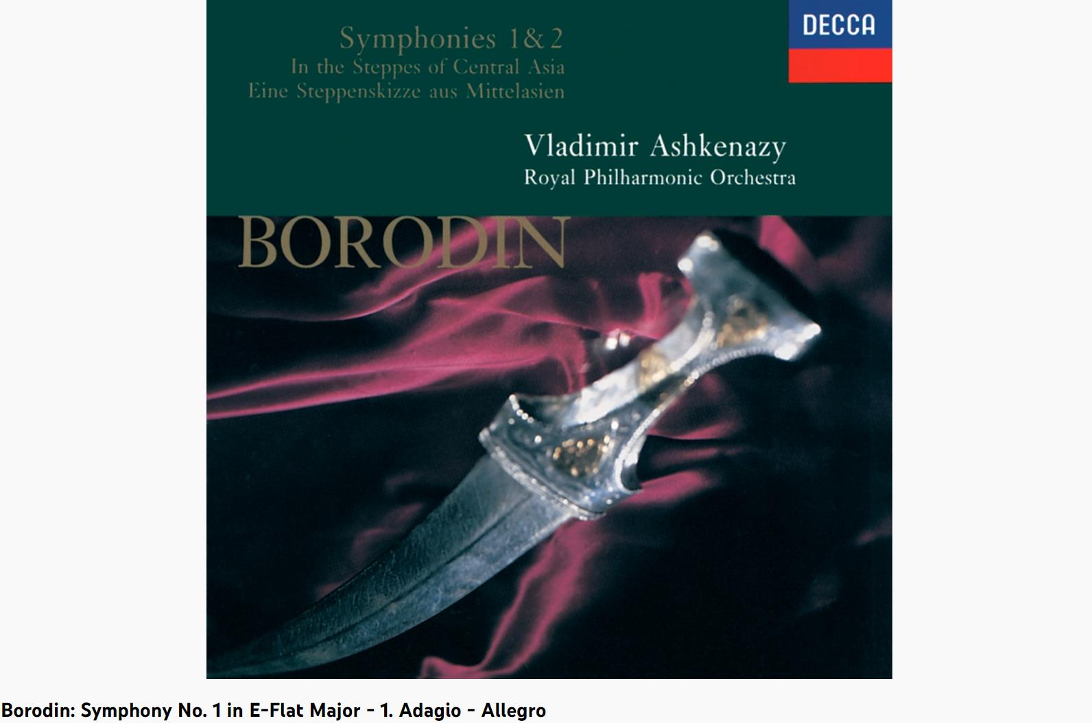 Borodine Symphonie n° 1 adagio