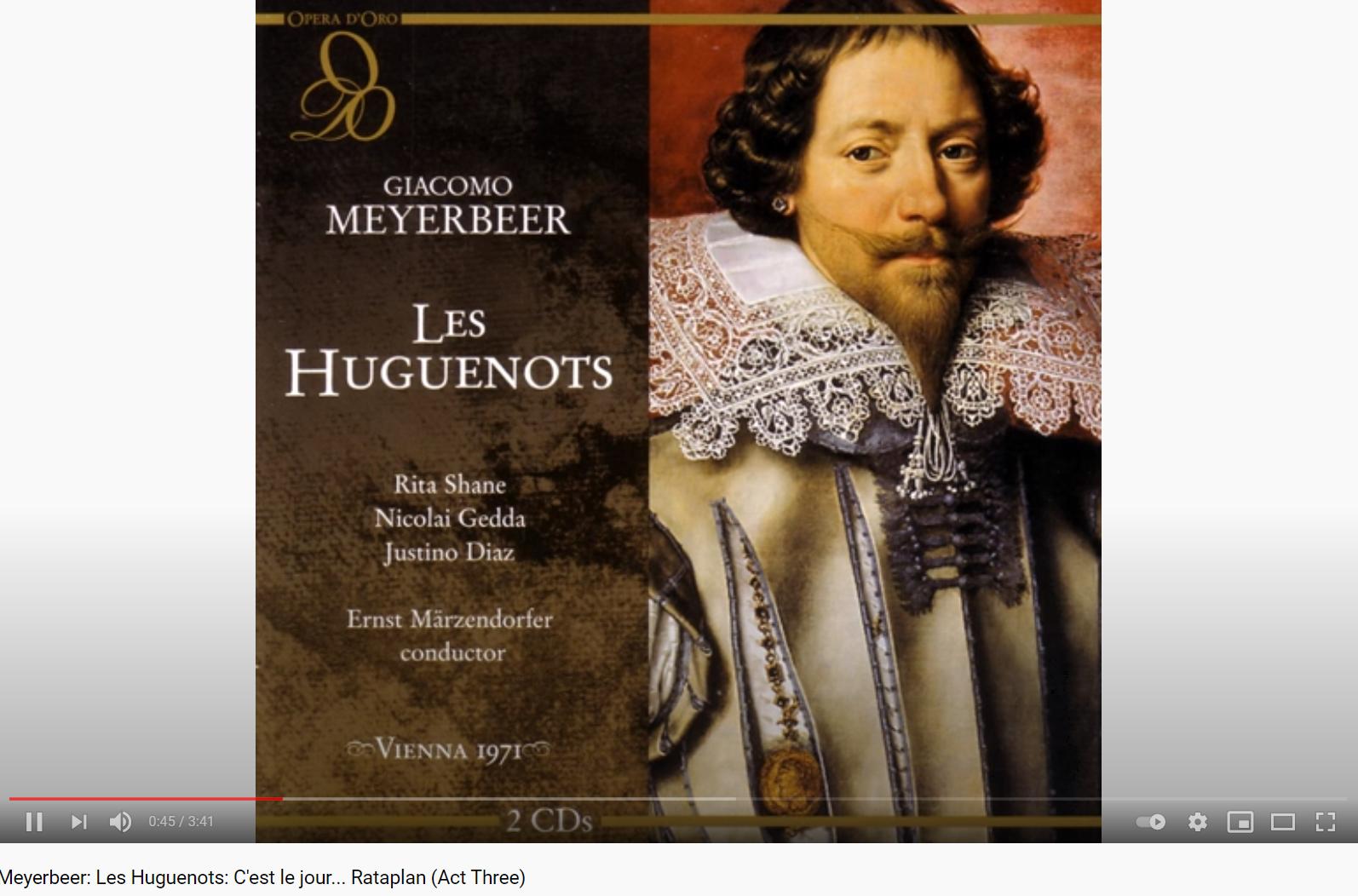 Meyerbeer les huguenots C'est le jour Rataplan