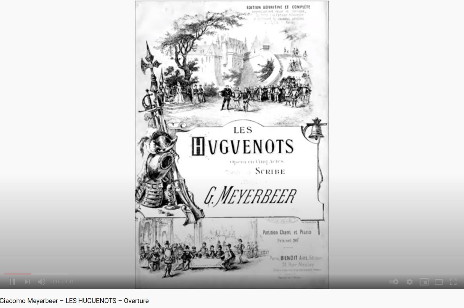 Meyerbeer les huguenots ouverture