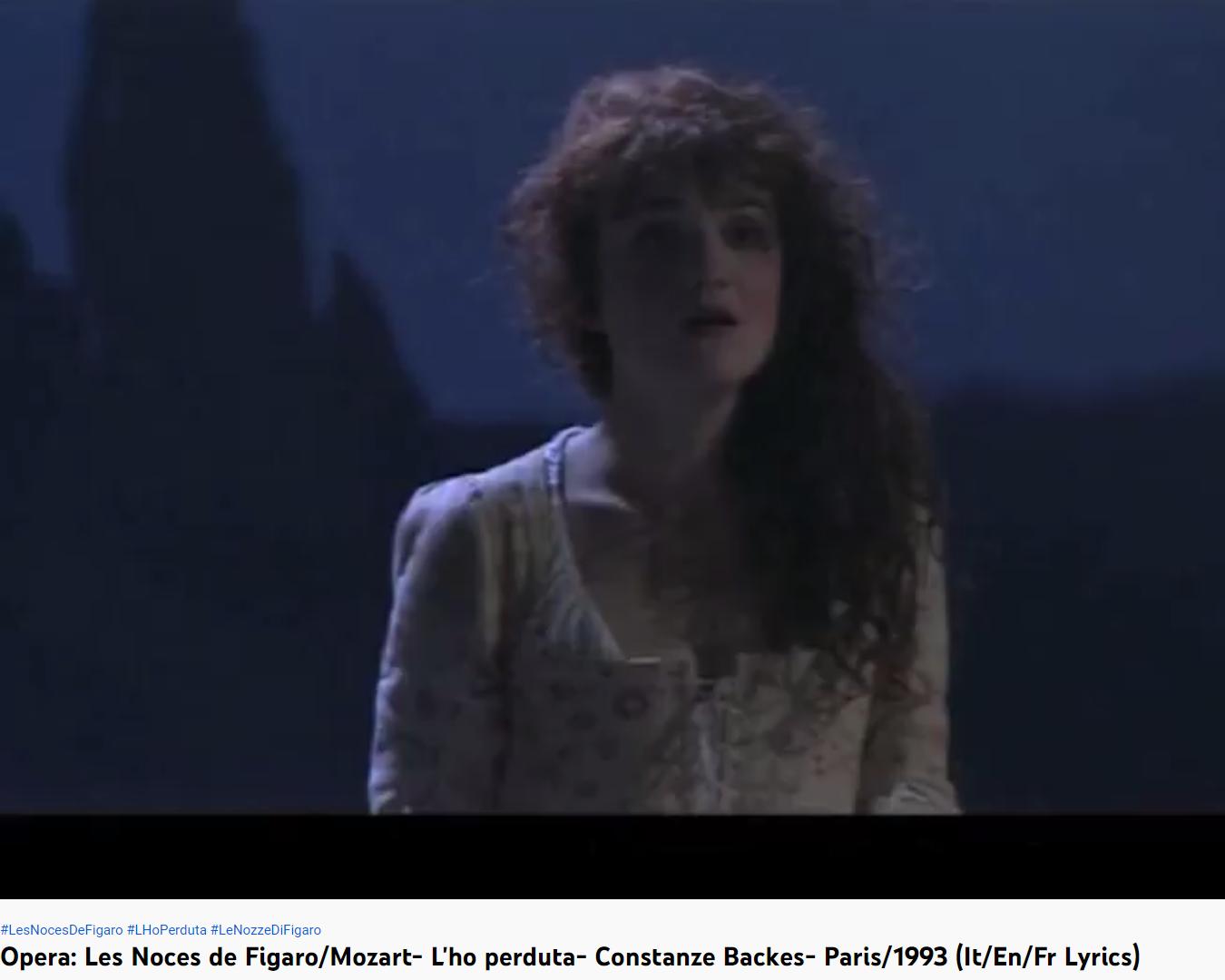 Mozart les Noces de Figaro L'ho perduta